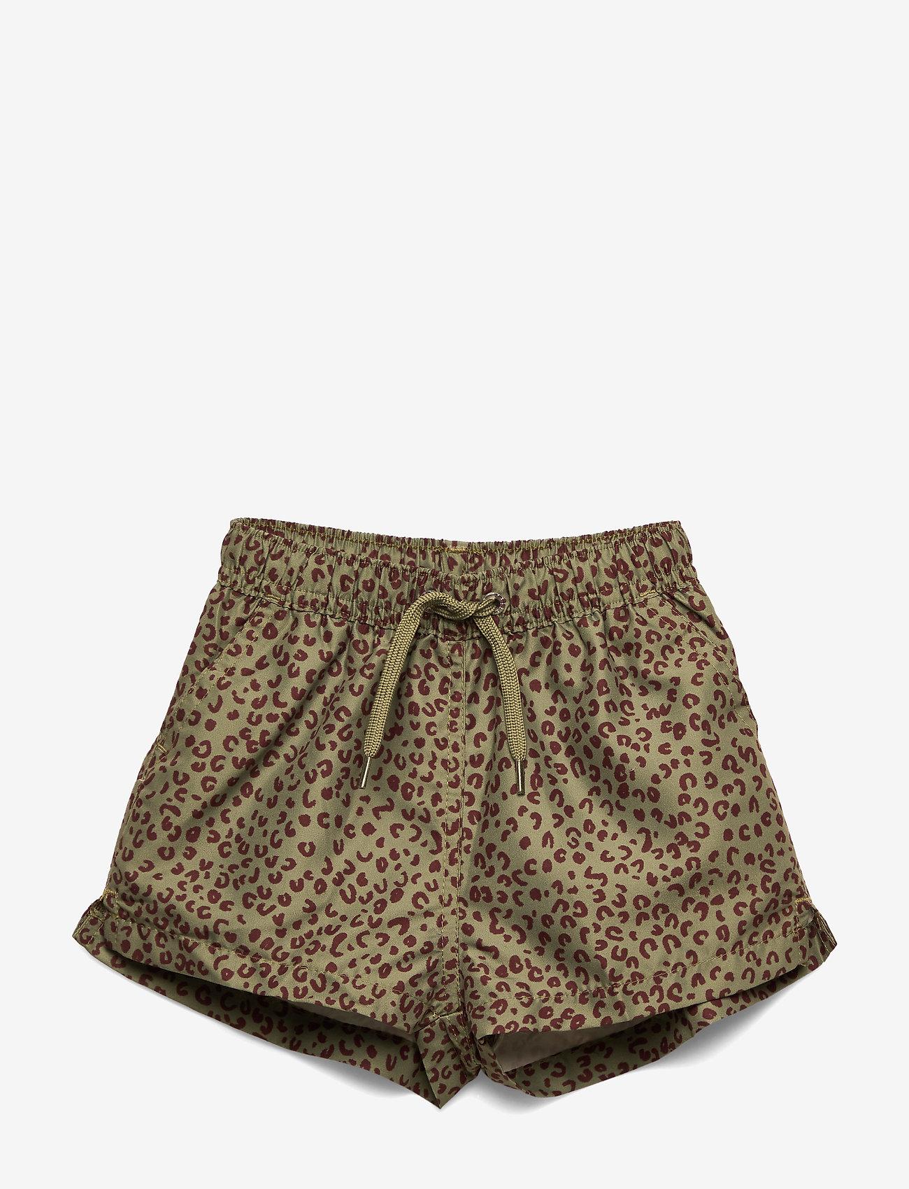 Soft Gallery - Edison Swim Pants - badehosen - oil green, aop leospot - 0
