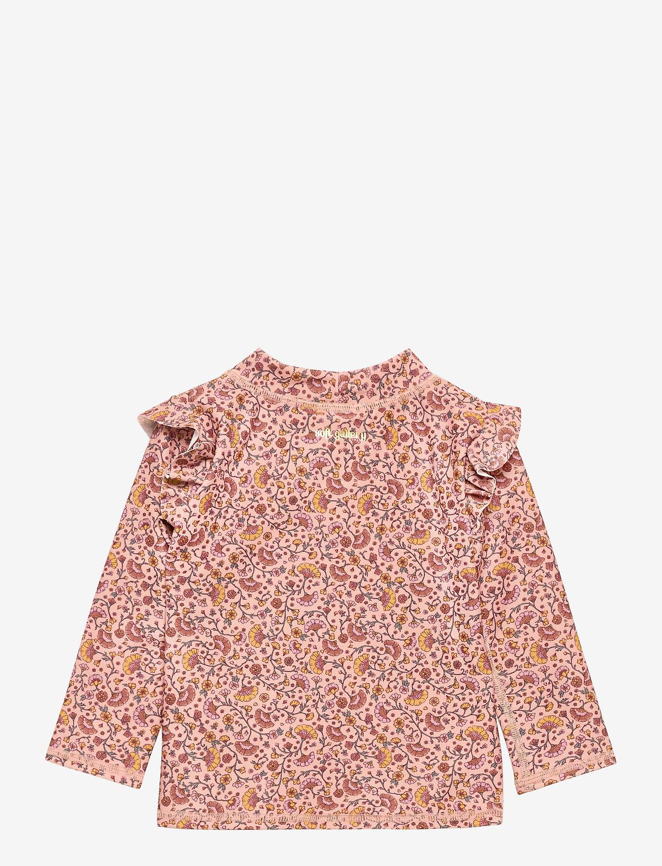 Soft Gallery - Baby Fee Sun Shirt - koszulki - misty rose, aop flower swim - 1