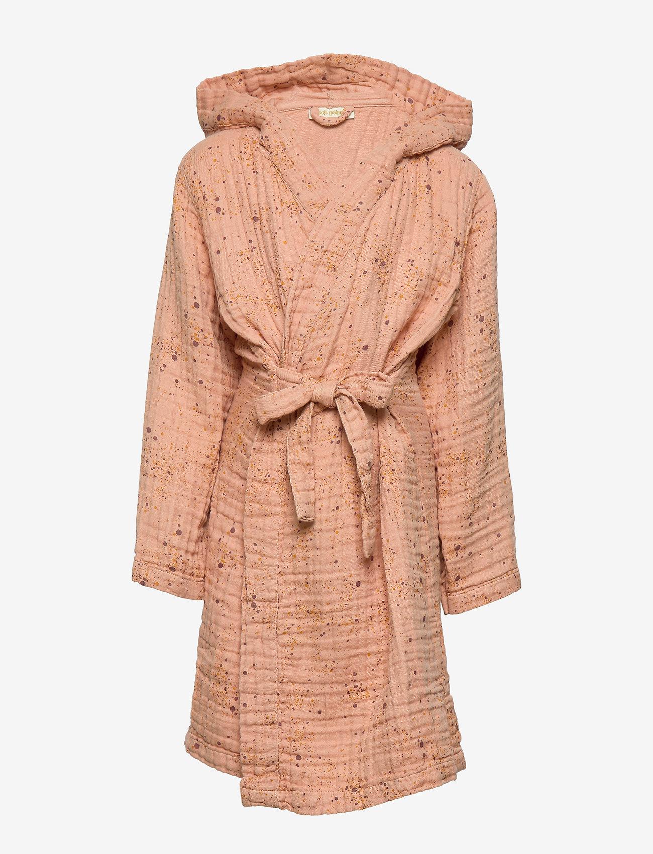Soft Gallery - Robe - bathrobes - peach perfect, aop mini splash rose - 0