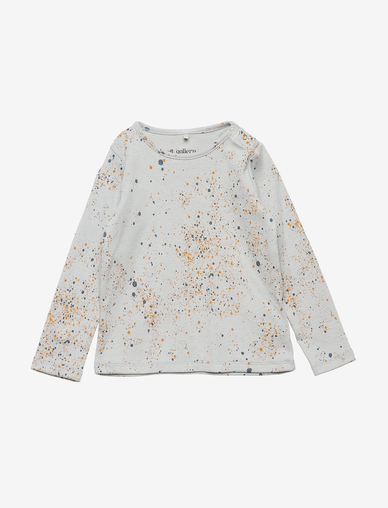 Soft Gallery - Baby Bella T-shirt - langärmelig - ocean grey, aop mini splash blue - 0