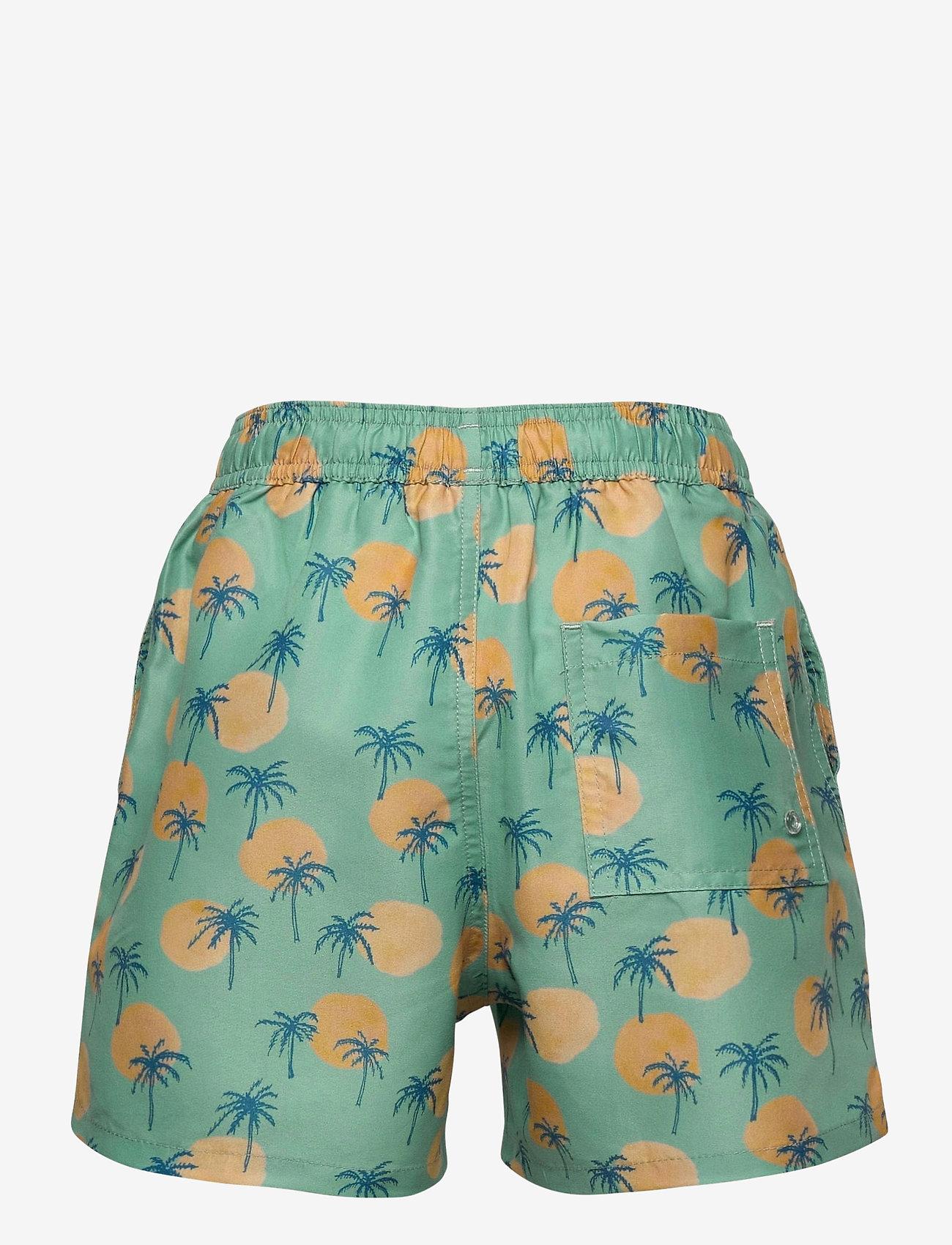 Soft Gallery - Dandy Swim Pants - badehosen - granite green, aop tropical - 1