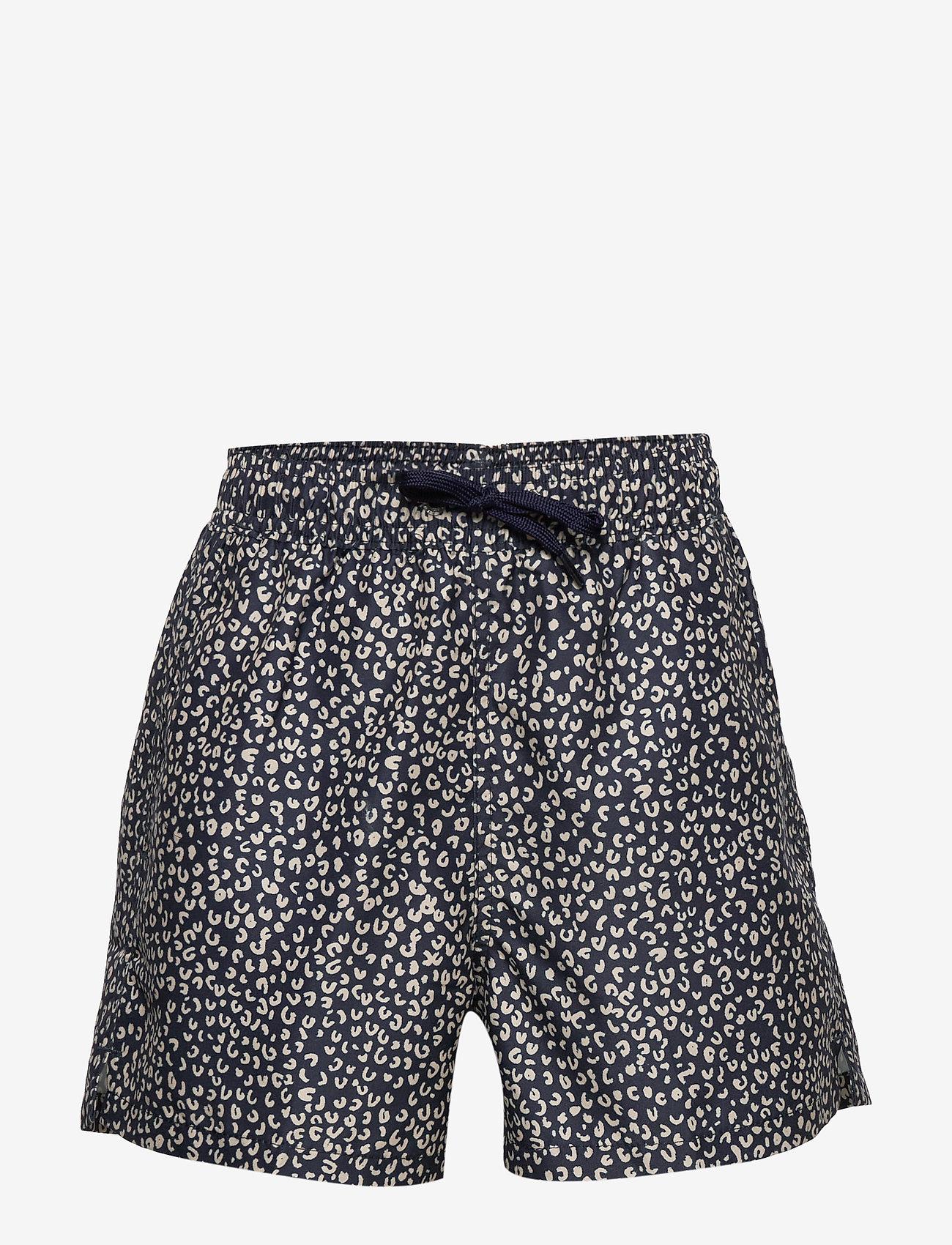 Soft Gallery - Dandy Swim Pants - spodenki - dress blue, aop leospot - 0