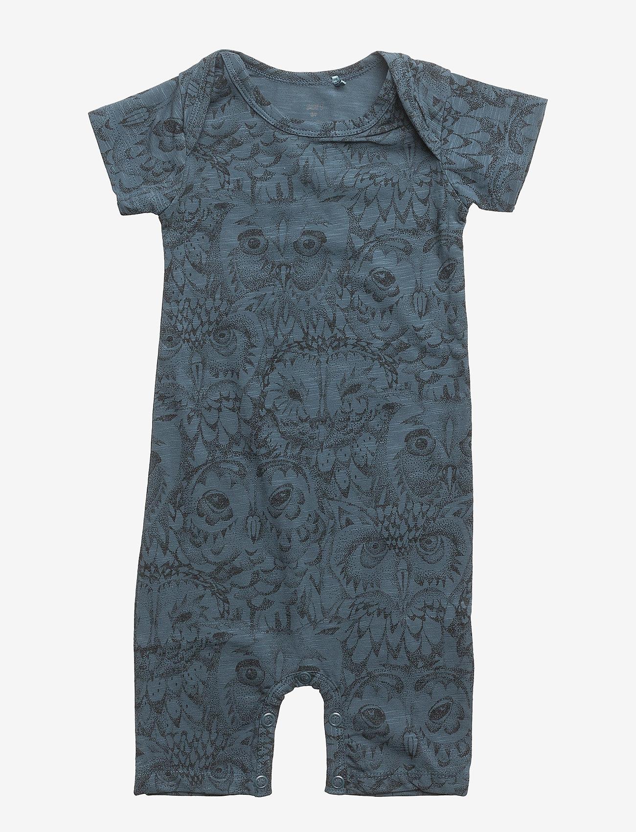 Soft Gallery - Owen Body - kurzärmelig - orion blue, aop owl - 0