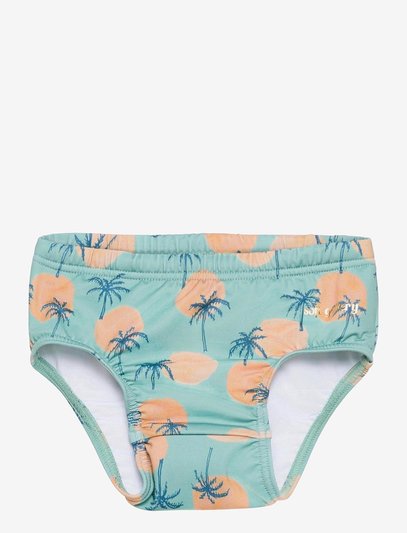 Soft Gallery - Miki Swim Pants - badehosen - granite green, aop tropical - 0