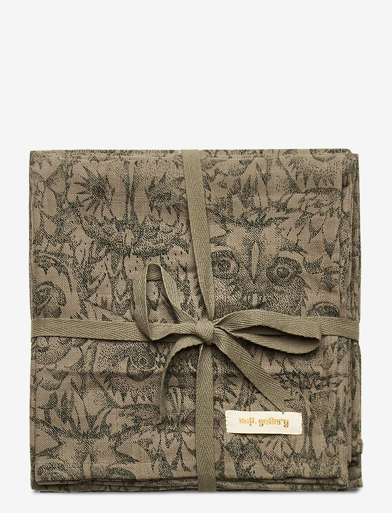 Soft Gallery - Muslin - ręczniki i szmatki - vetiver, aop owl vetiver - 0