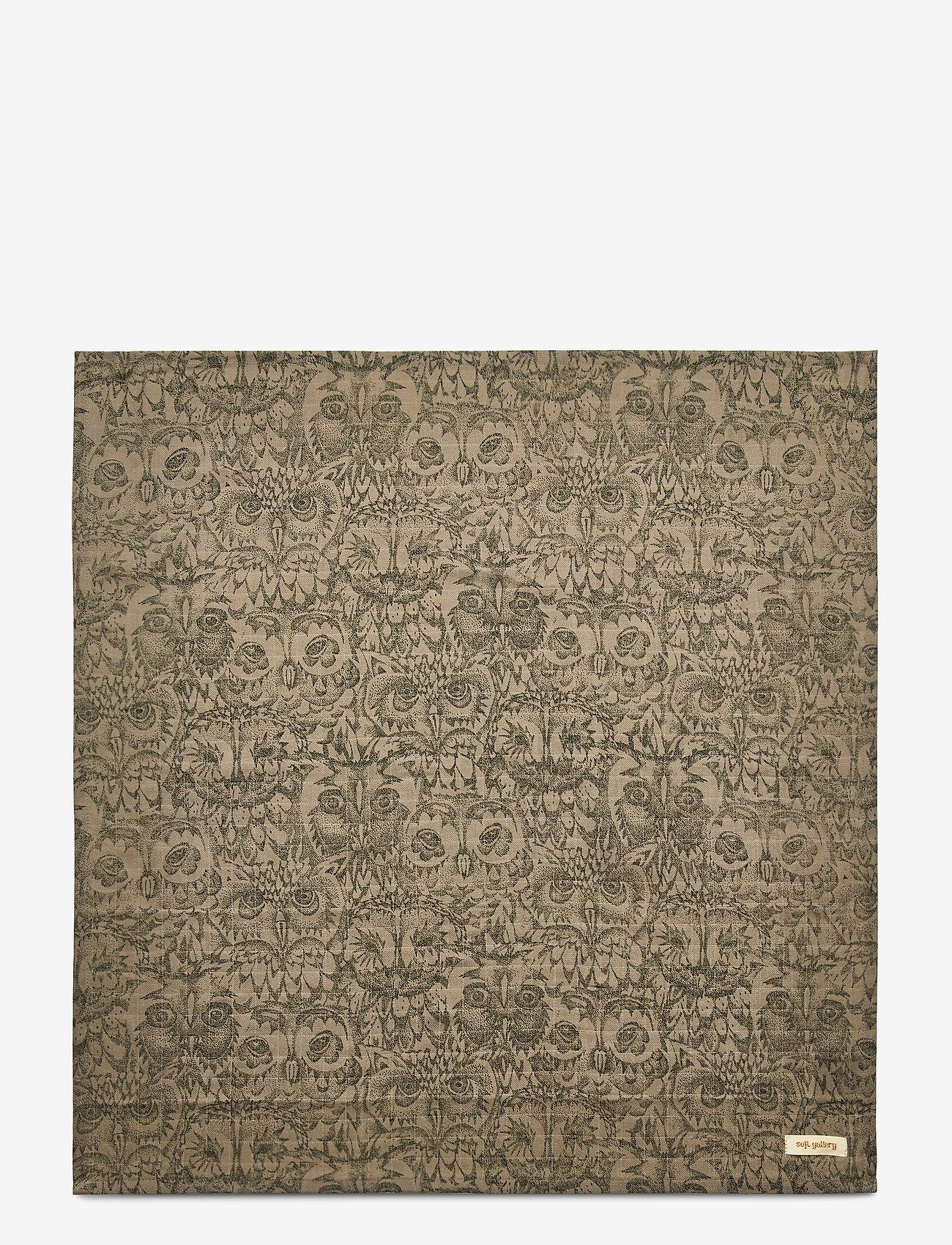Soft Gallery - Muslin - ręczniki i szmatki - vetiver, aop owl vetiver - 1
