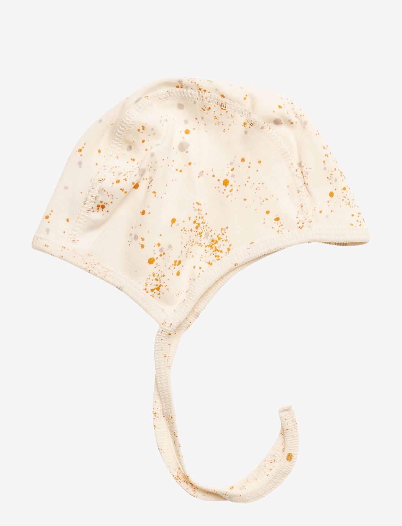 Soft Gallery - Hattie - hatte og handsker - fluffy sky, aop mini splash cream - 0
