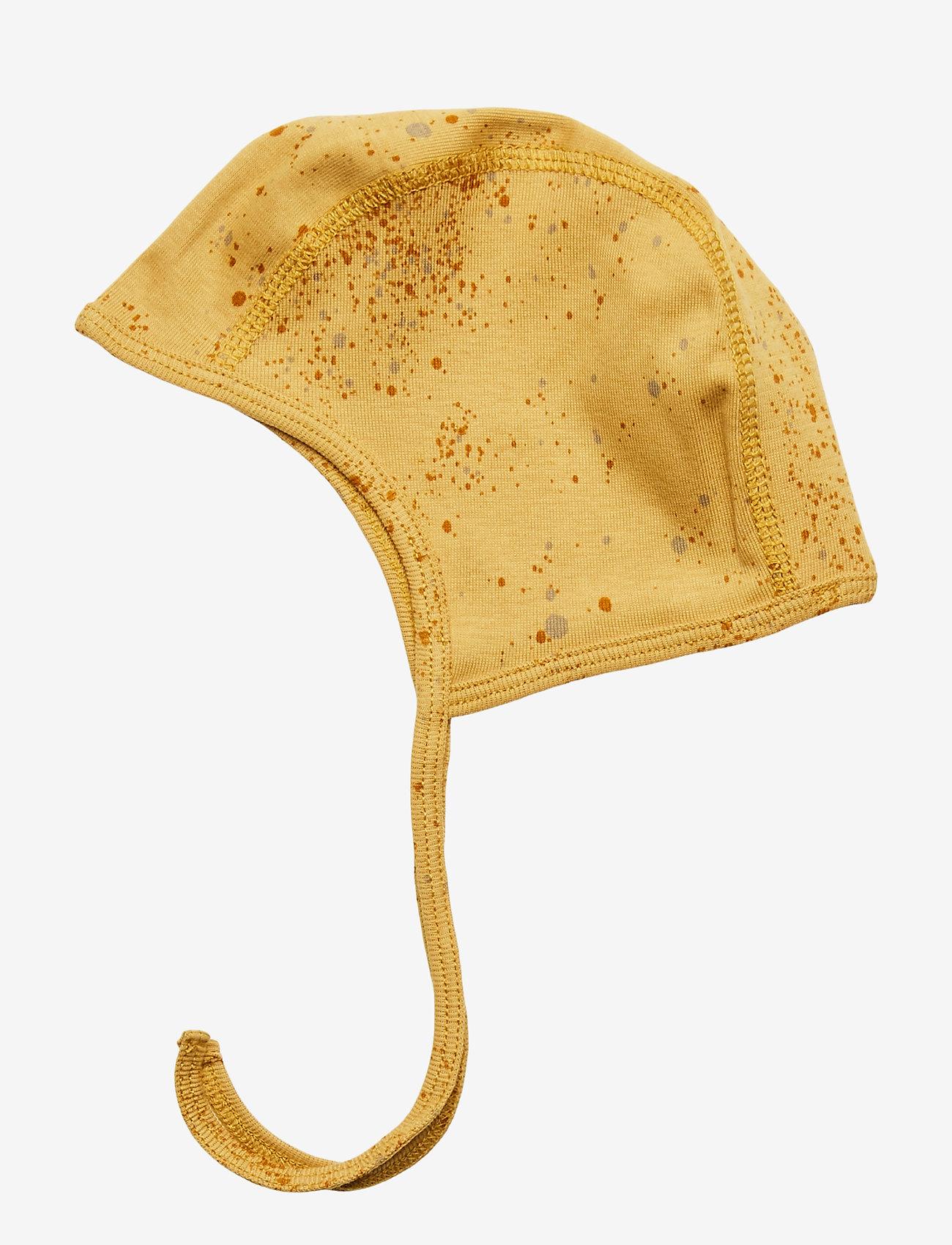 Soft Gallery - Hattie - hatte og handsker - fall leaf, aop mini splash yellow - 1