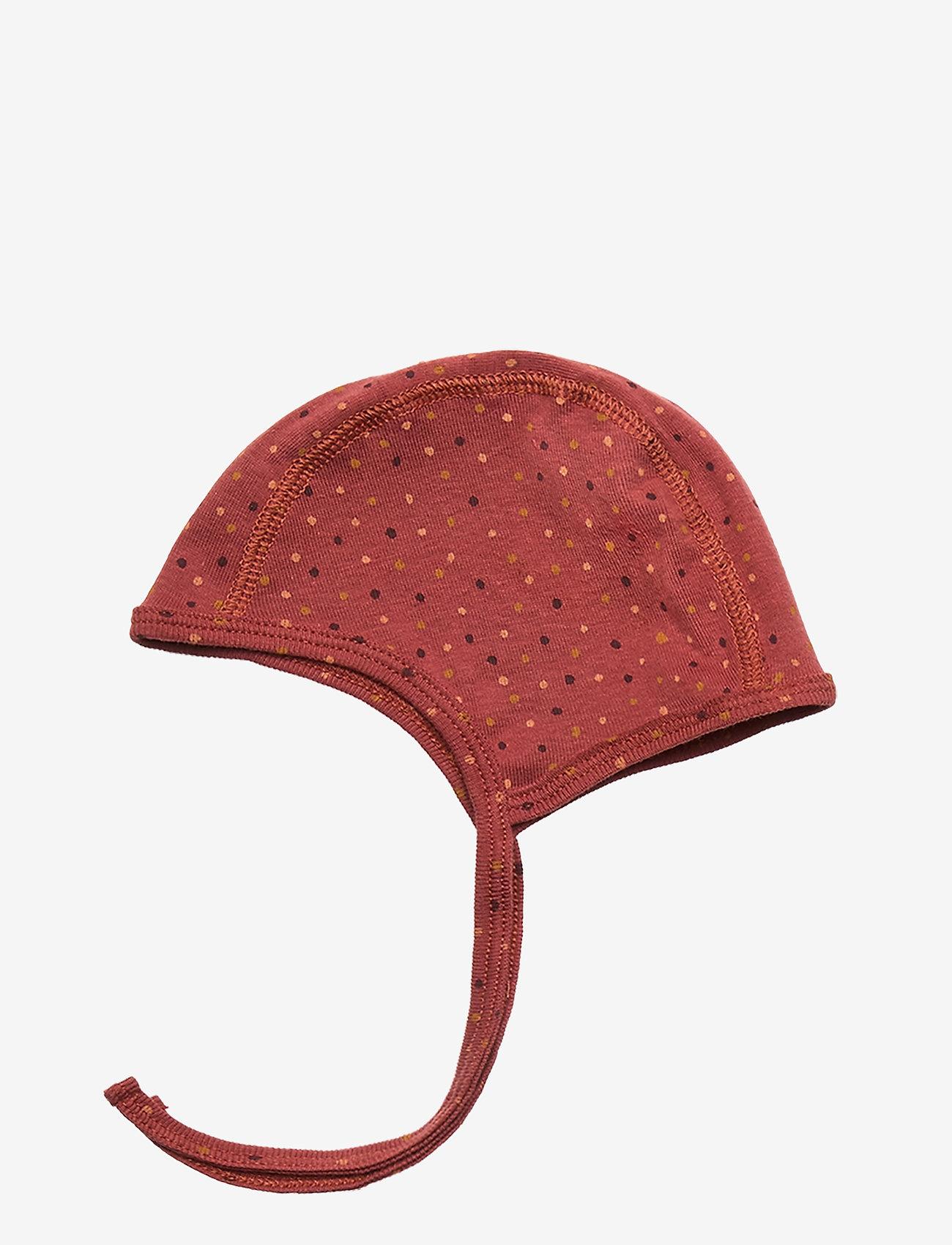 Soft Gallery - Hattie - hatte og handsker - barn red, aop trio dotties - 1