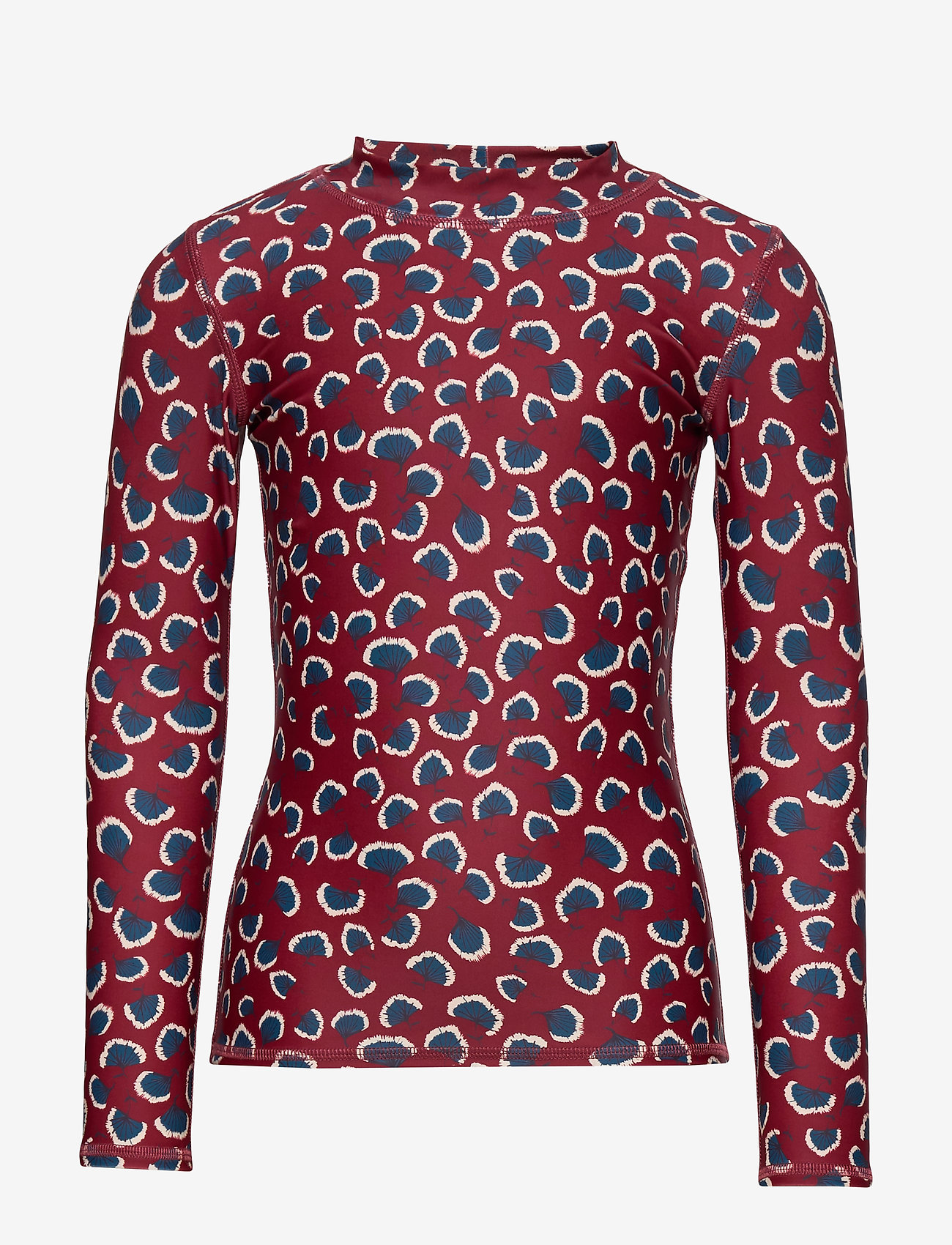 Soft Gallery - Astin Sun Shirt - koszulki - russet brown, aop coral - 0
