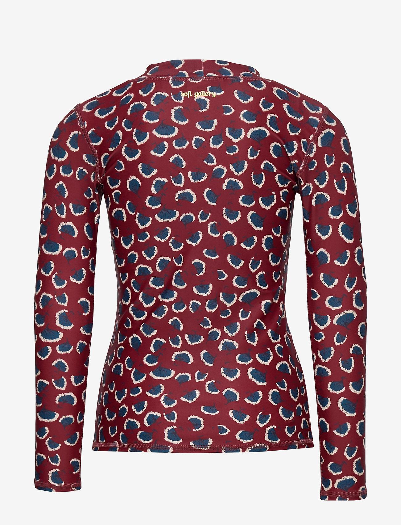 Soft Gallery - Astin Sun Shirt - koszulki - russet brown, aop coral - 1