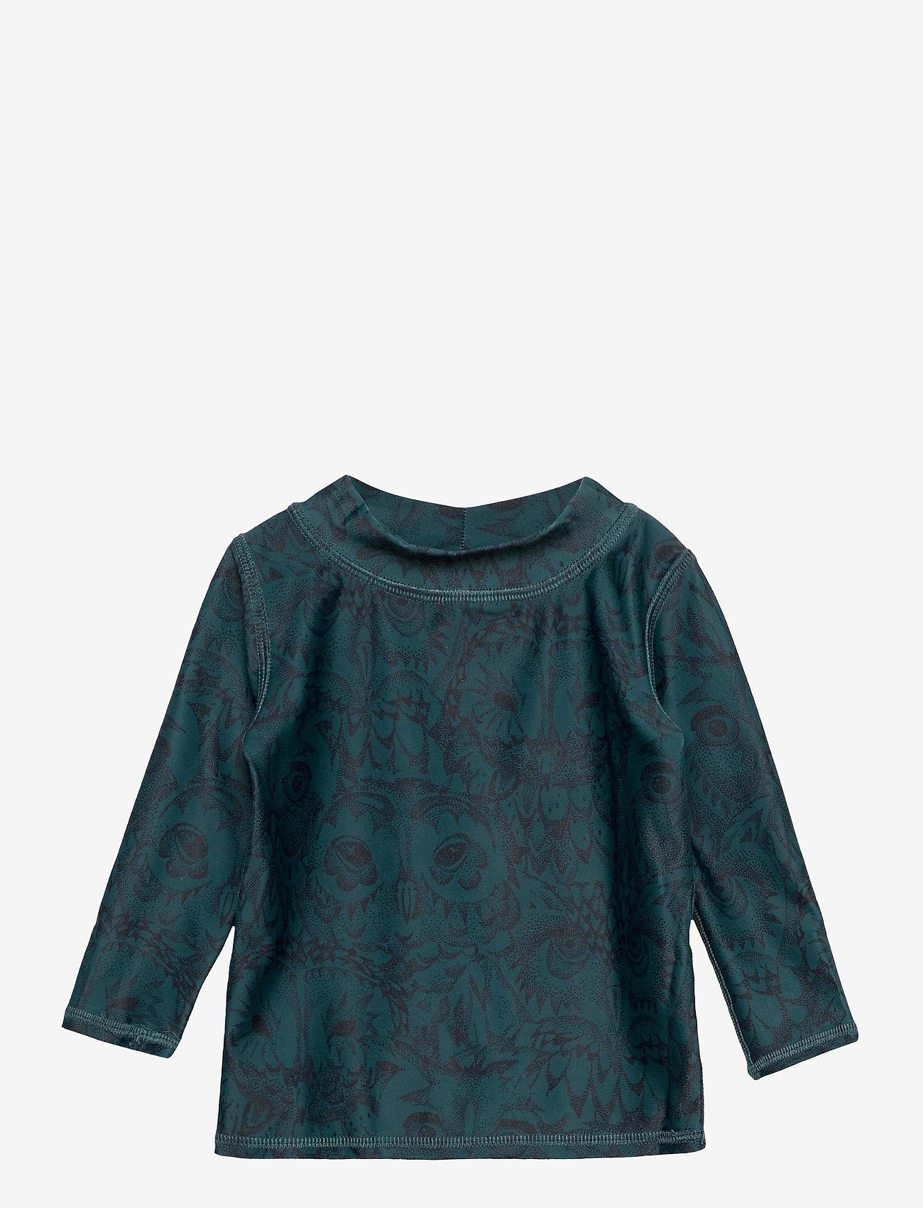 Soft Gallery - Baby Astin Sun Shirt - koszulki - orion blue, aop owl - 0