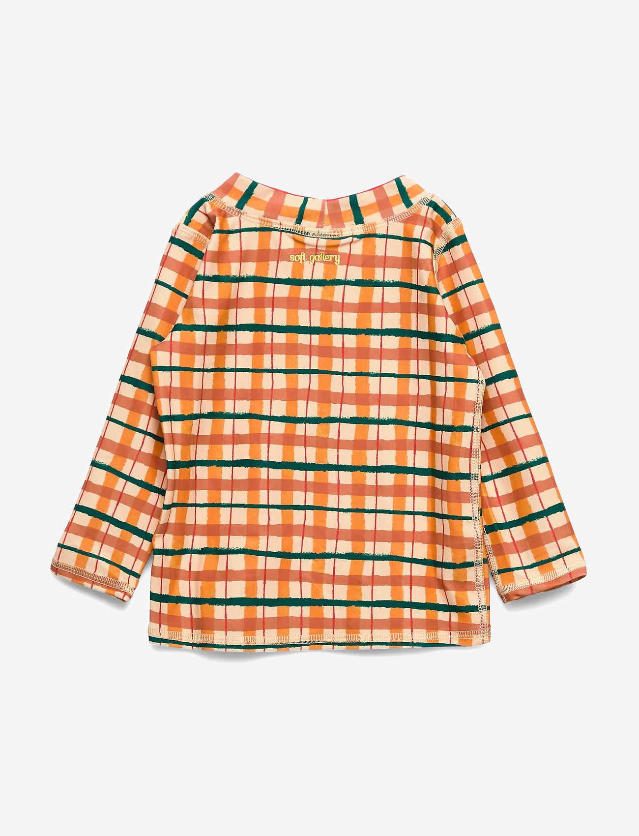 Soft Gallery - Baby Astin Sun Shirt - koszulki - winter wheat, aop check - 1