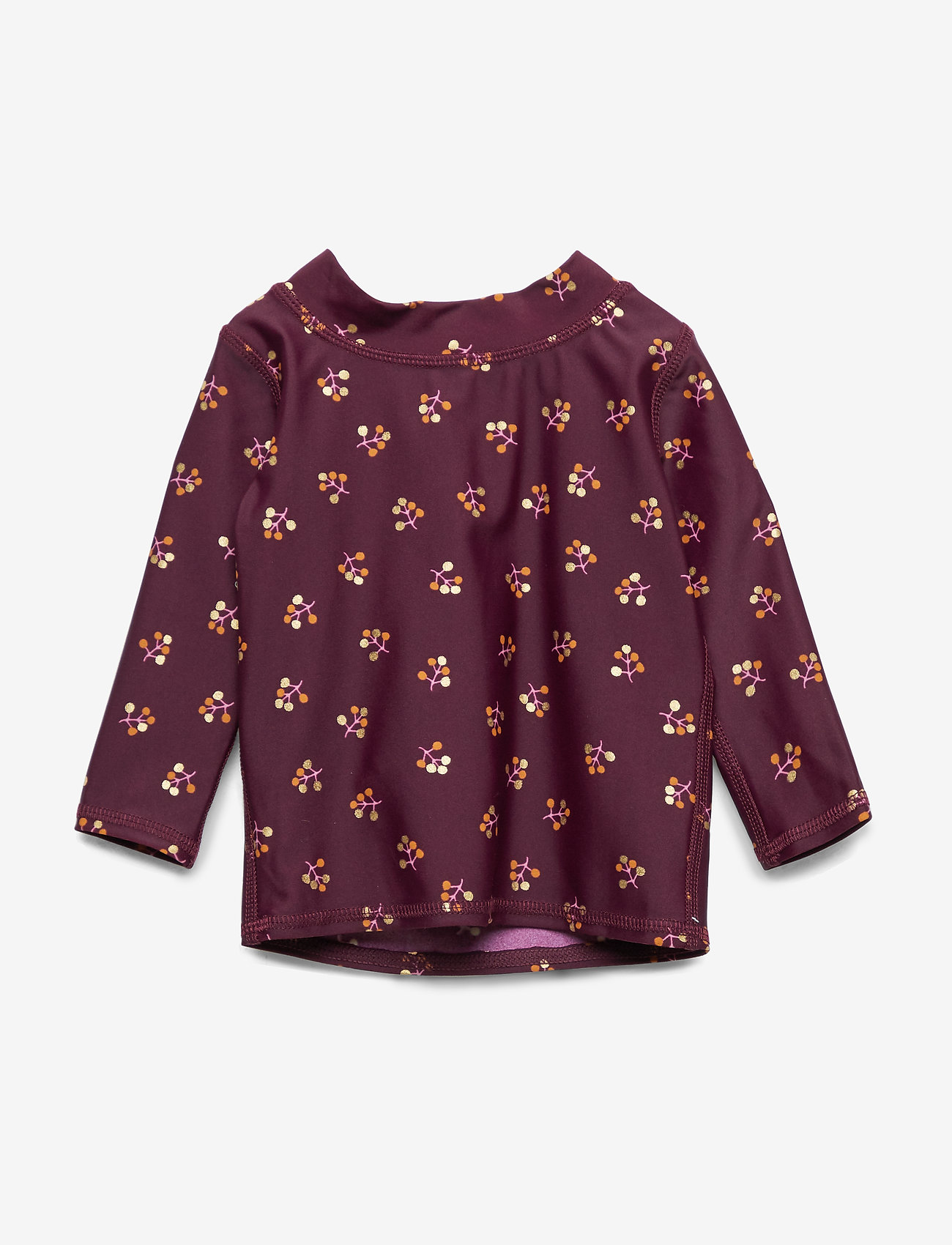 Soft Gallery - Baby Astin Sun Shirt - koszulki - fig, aop winterberry small - 0