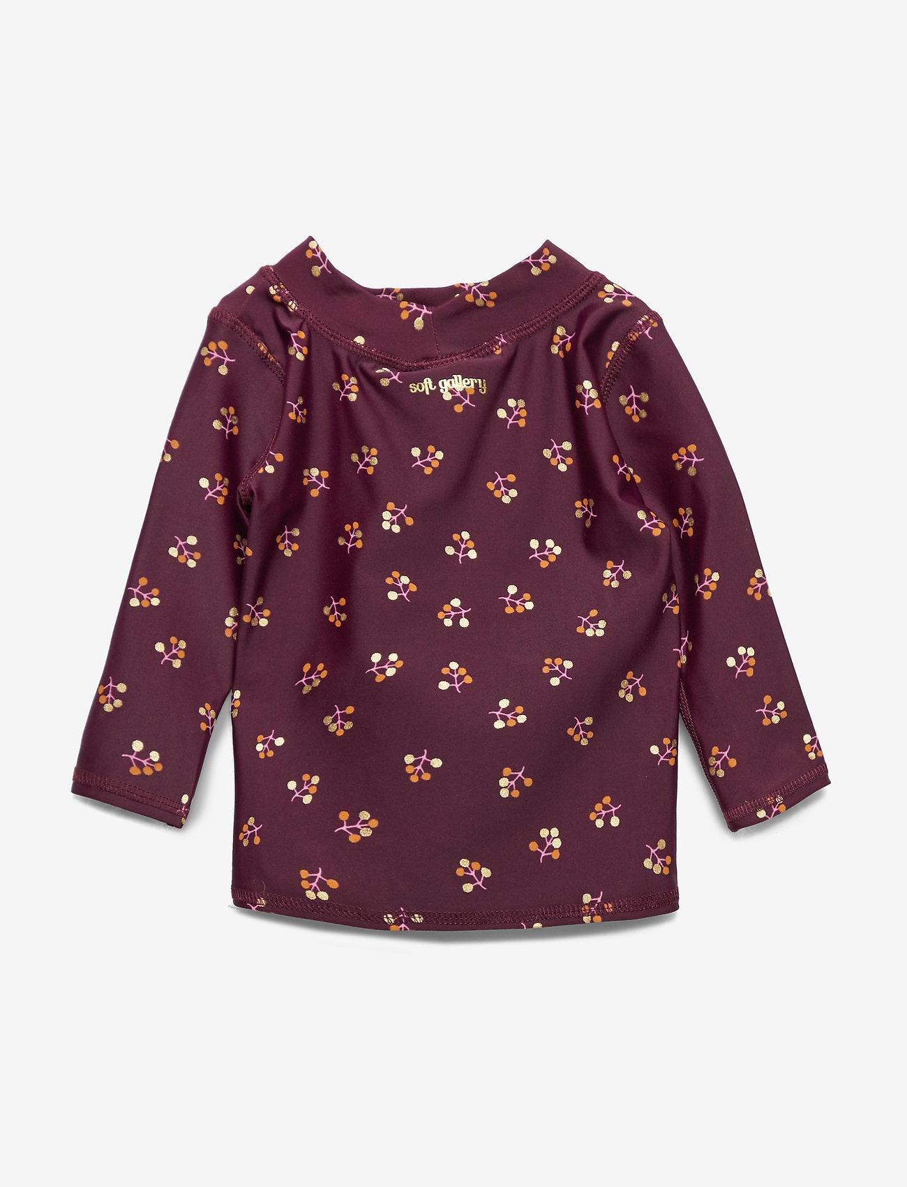 Soft Gallery - Baby Astin Sun Shirt - koszulki - fig, aop winterberry small - 1