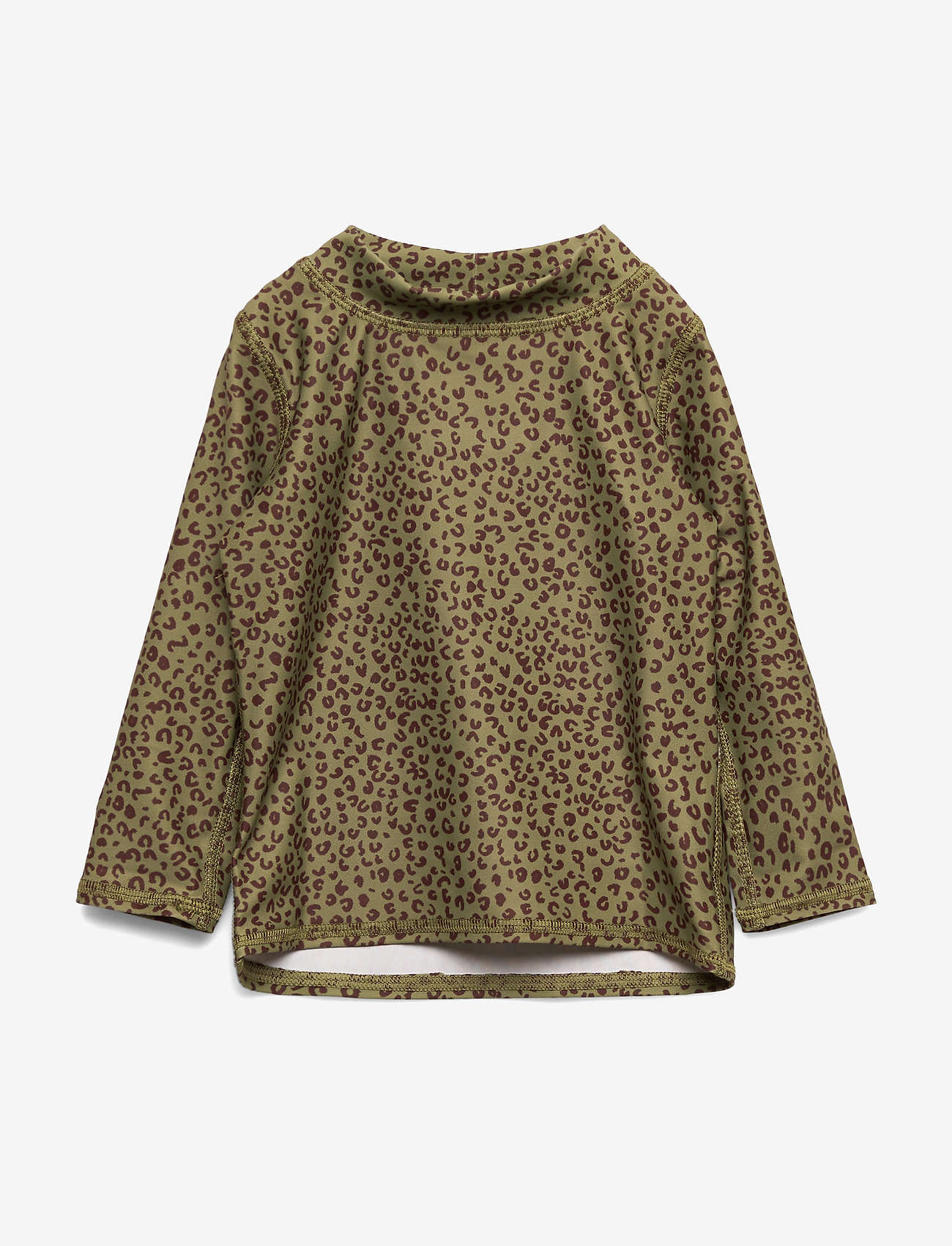 Soft Gallery - Baby Astin Sun Shirt - koszulki - oil green, aop leospot - 0