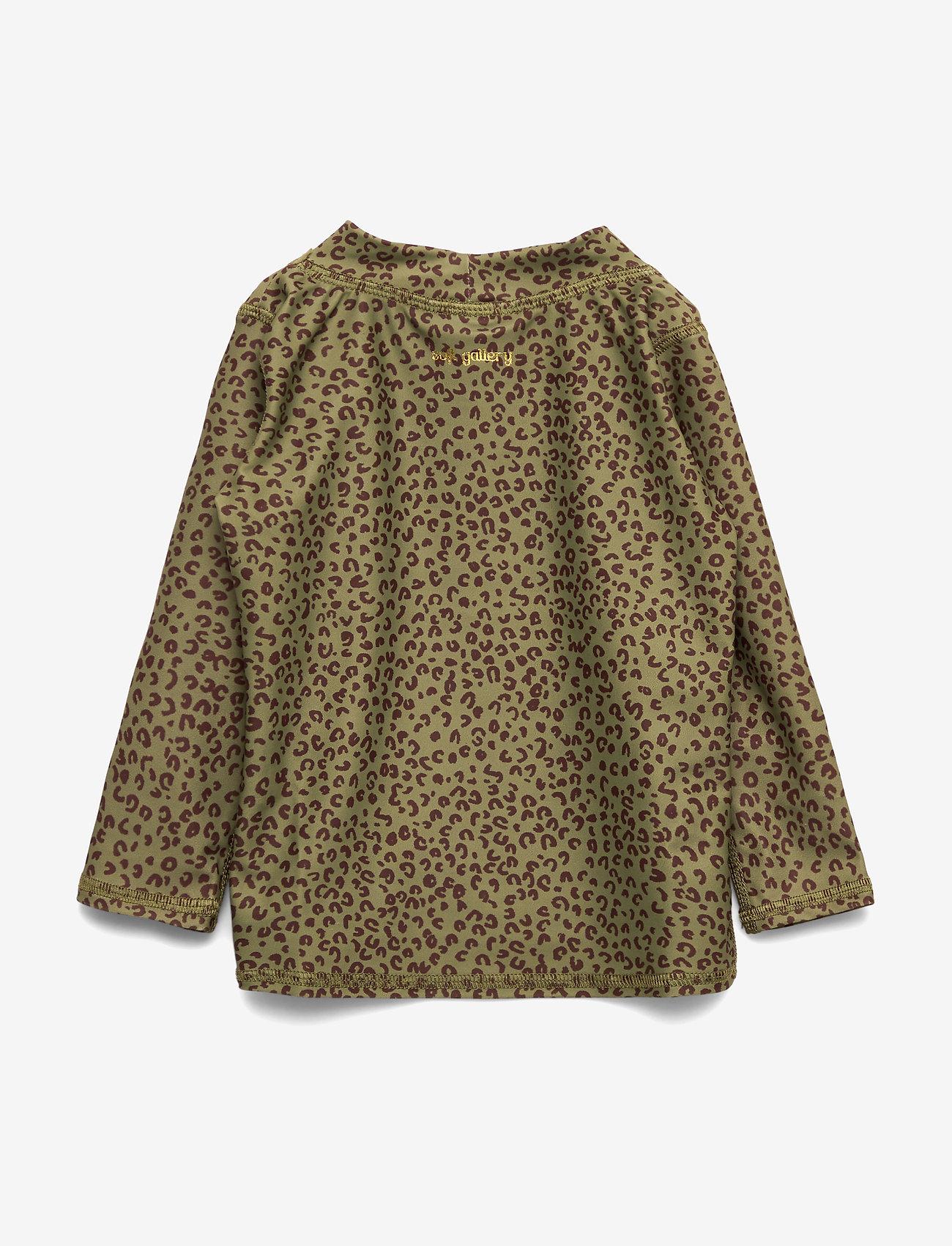 Soft Gallery - Baby Astin Sun Shirt - koszulki - oil green, aop leospot - 1