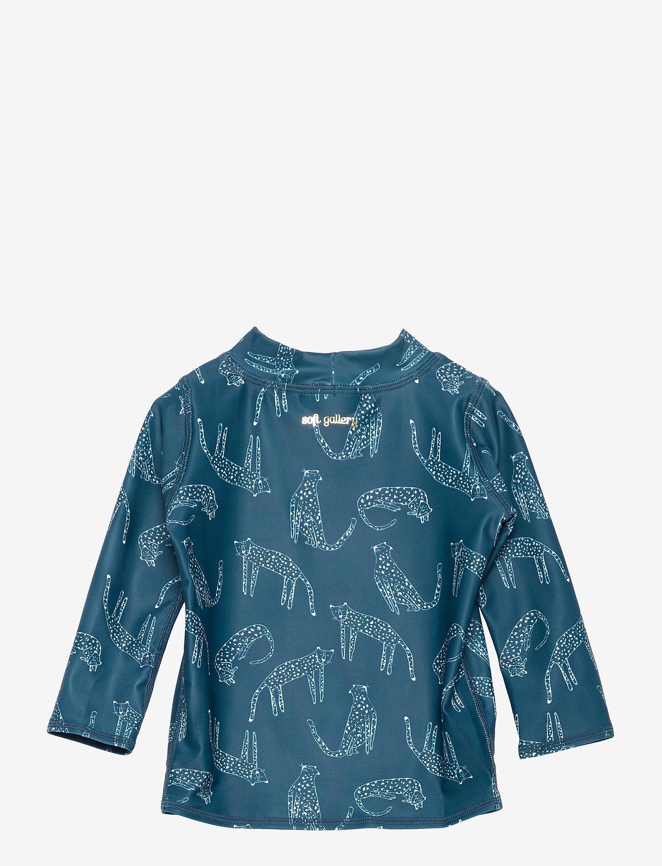 Soft Gallery - Baby Astin Sun Shirt - koszulki - majolica blue, aop loeline - 1