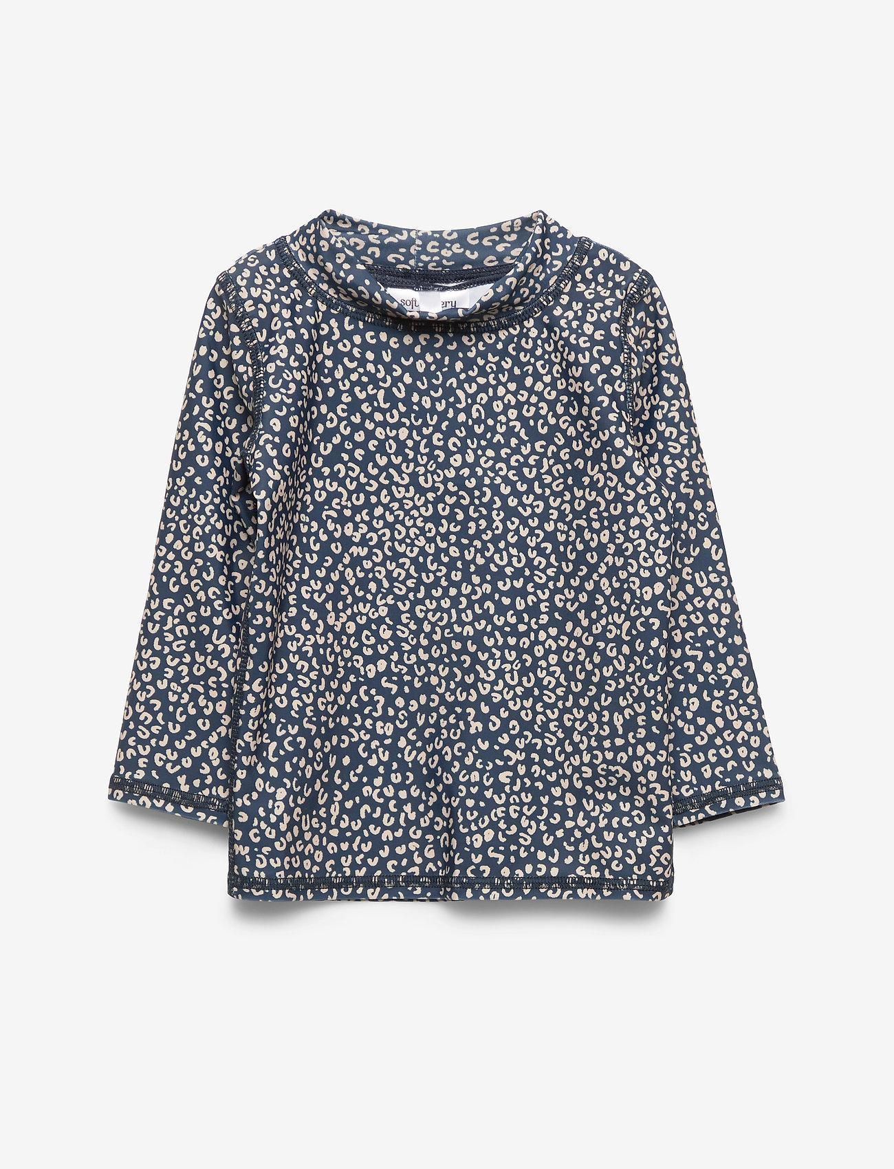 Soft Gallery - Baby Astin Sun Shirt - koszulki - dress blue, aop leospot - 0