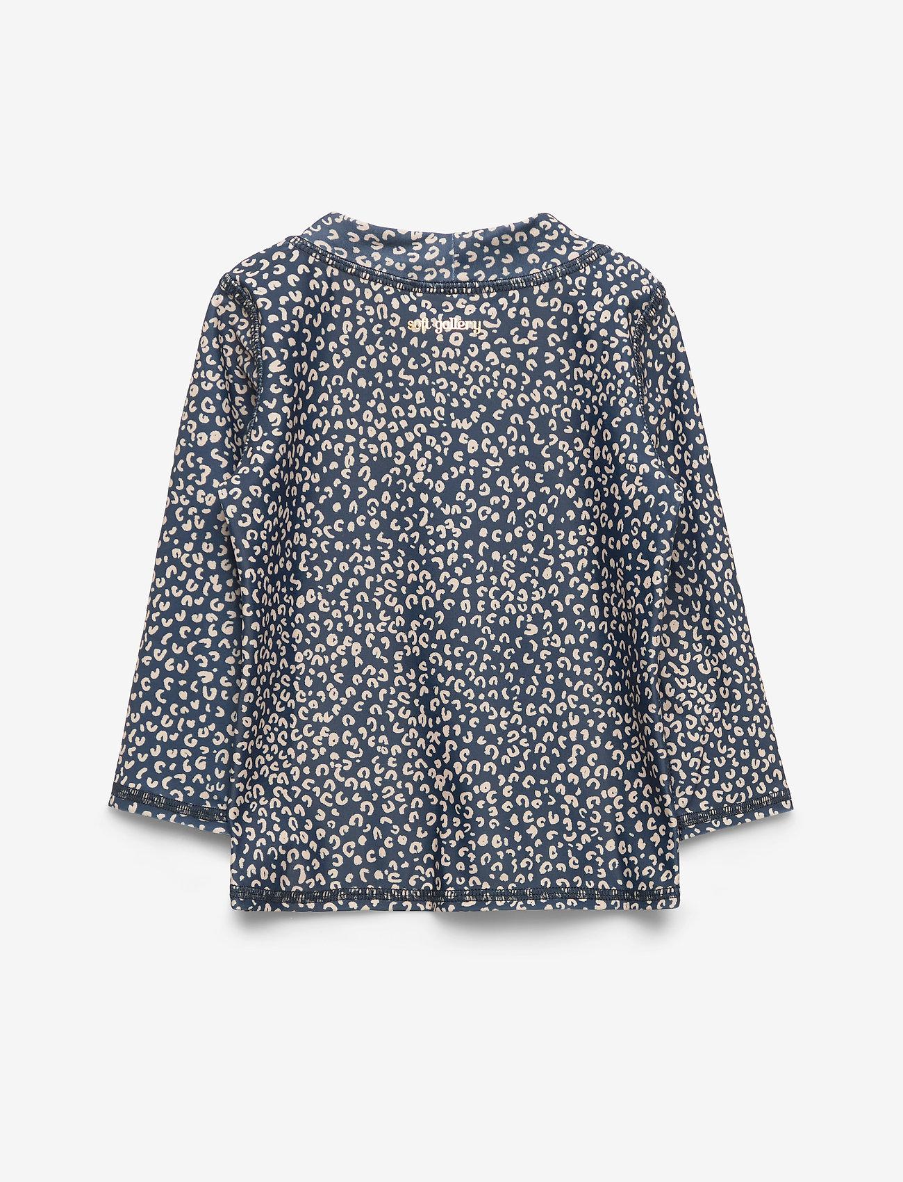 Soft Gallery - Baby Astin Sun Shirt - koszulki - dress blue, aop leospot - 1