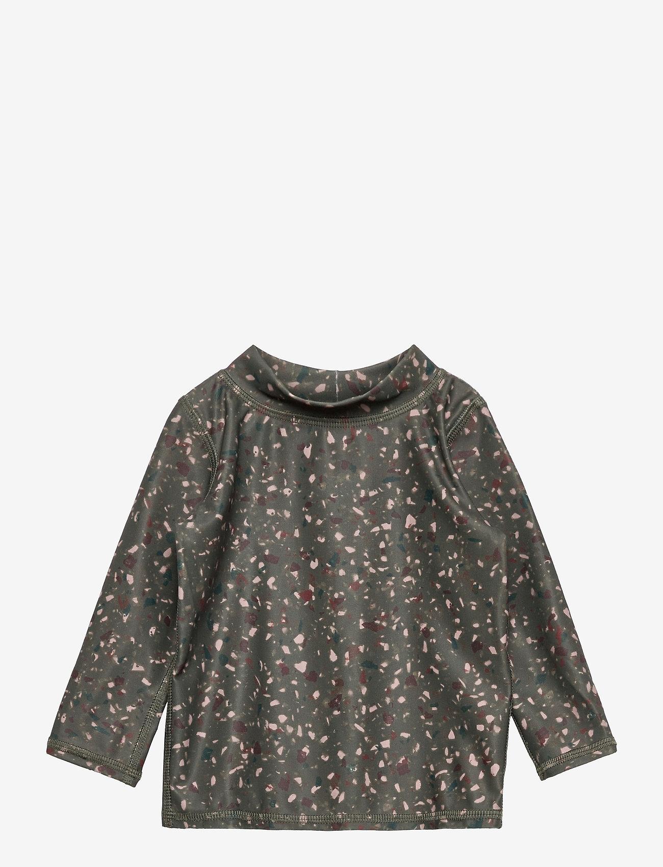 Soft Gallery - Baby Astin Sun Shirt - koszulki - deep liche, aop terra - 0