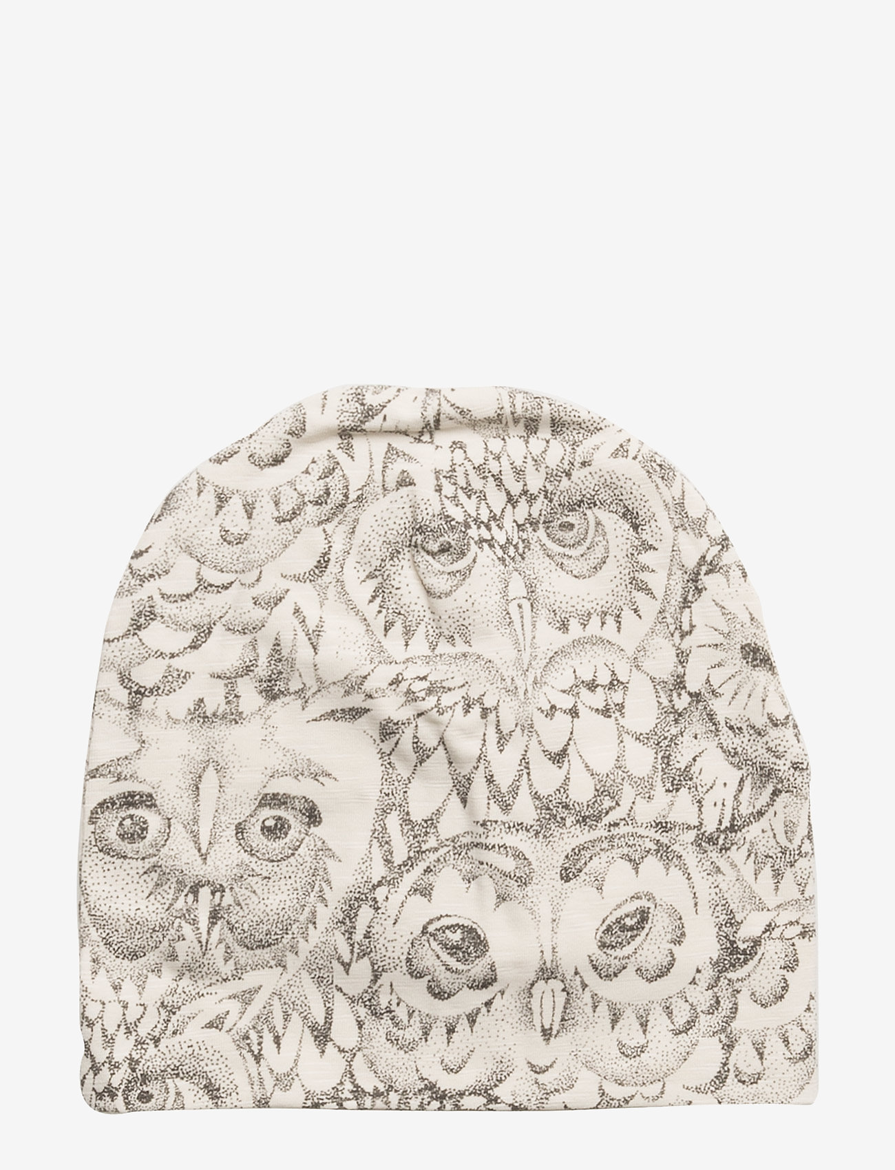 Soft Gallery - Beanie - hatte og handsker - cream, aop owl - 0