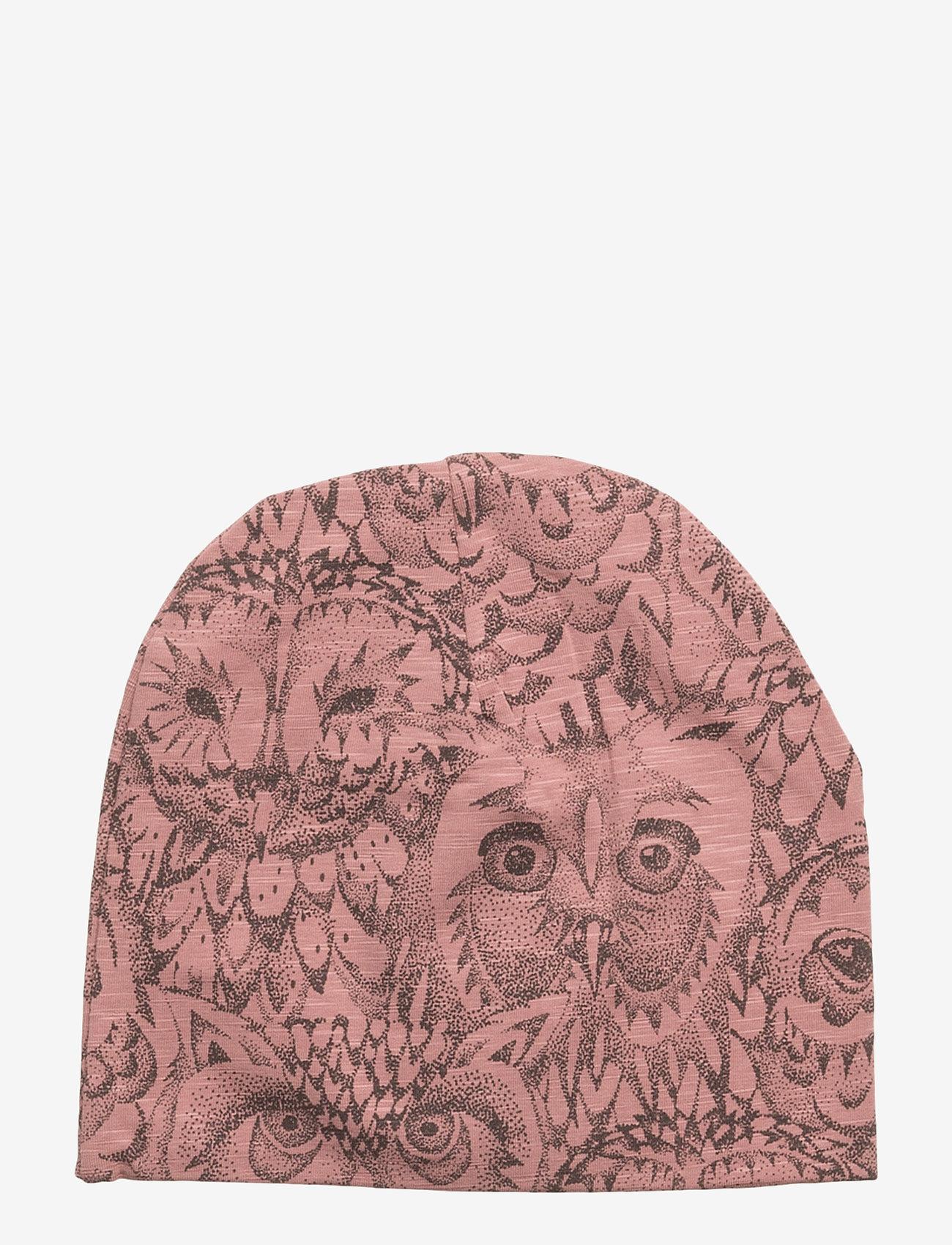 Soft Gallery - Beanie - huer - burlwood, aop owl - 0