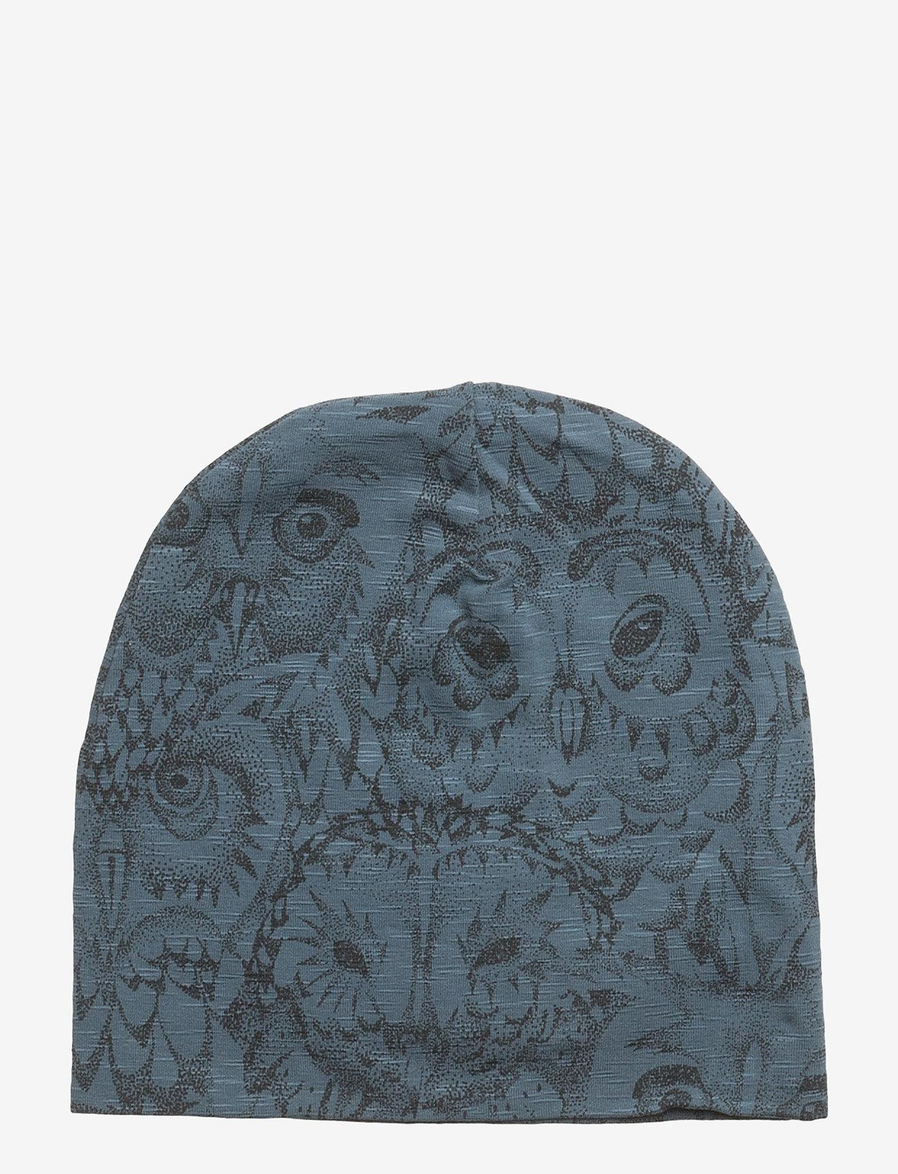Soft Gallery - Beanie - kapelusze - orion blue, aop owl - 0