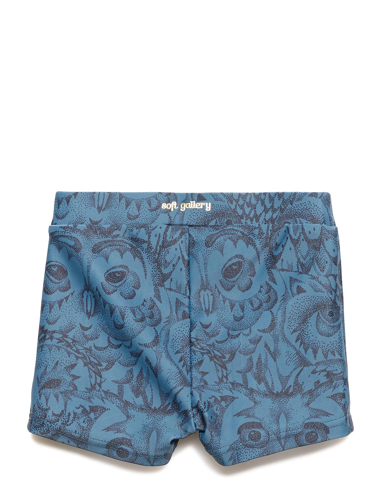 Soft Gallery - Don Swim Trunk - badehosen - orion blue, aop owl - 1