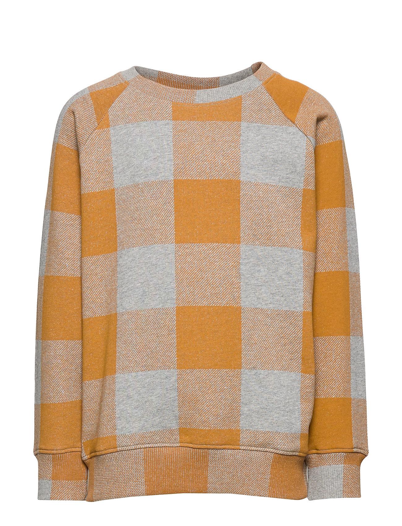 Soft Gallery Chaz Sweatshirt - GREY MELANGE, AOP PLAID