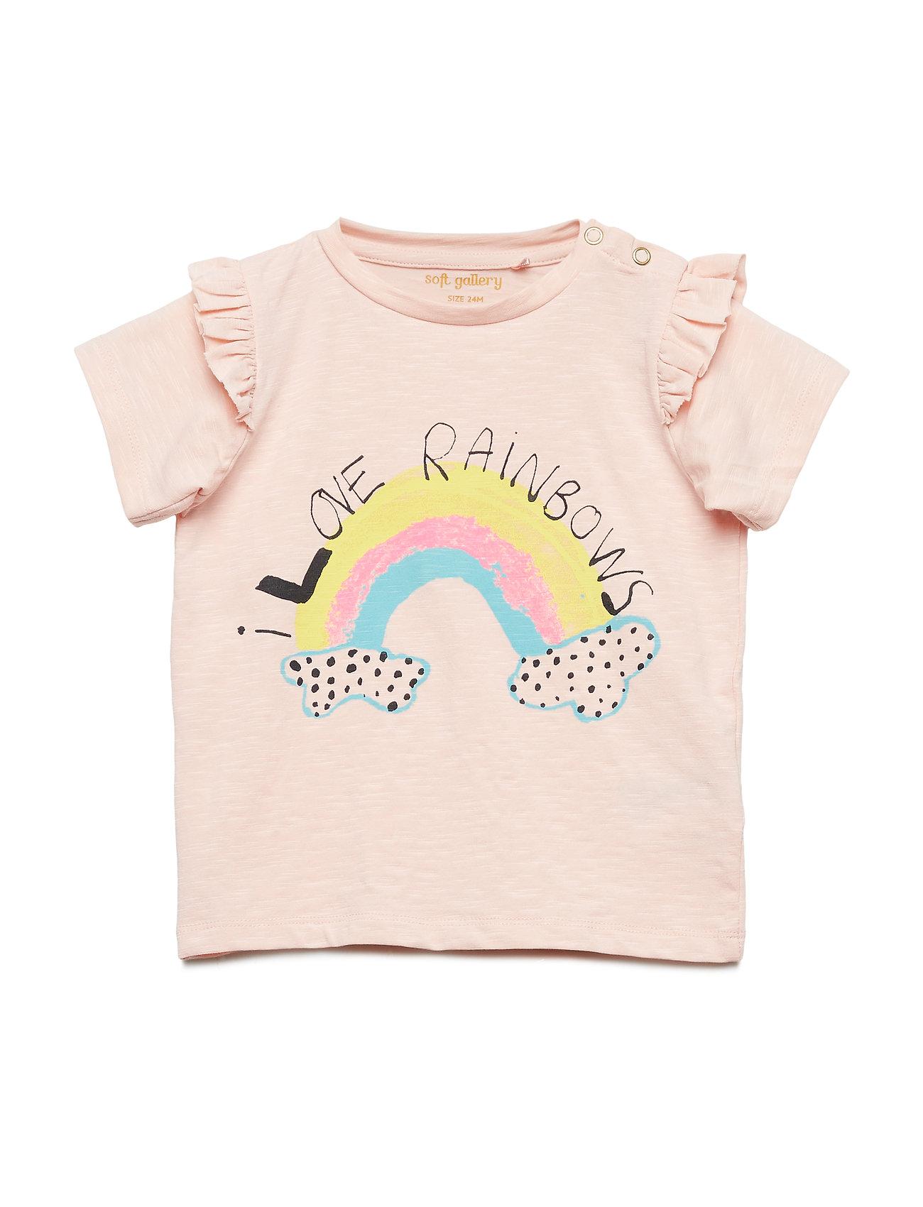 Soft Gallery Sif T-shirt - CHINTZ ROSE, RAINBOW