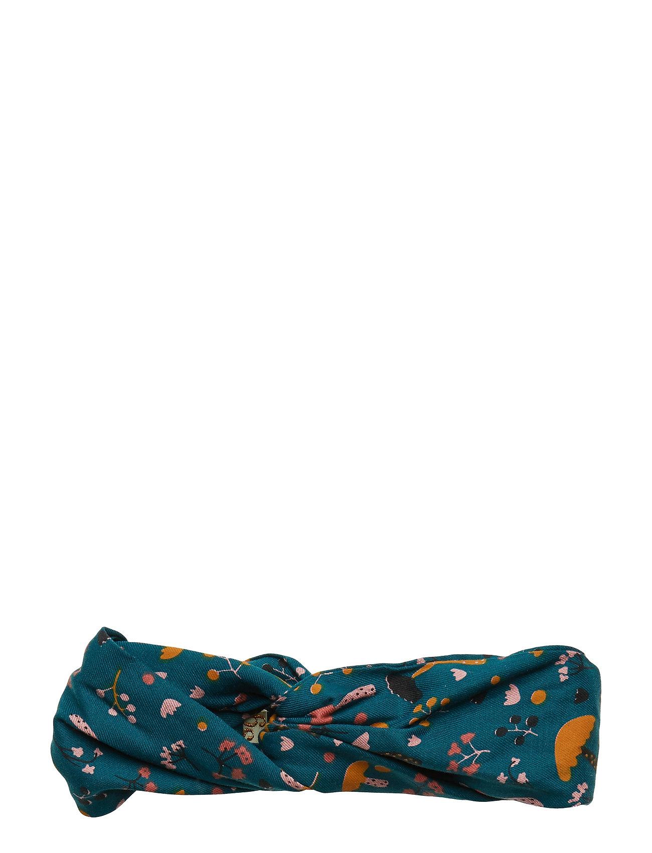 Soft Gallery Wrap Hairband - DEEP TEAL, AOP FUNGI