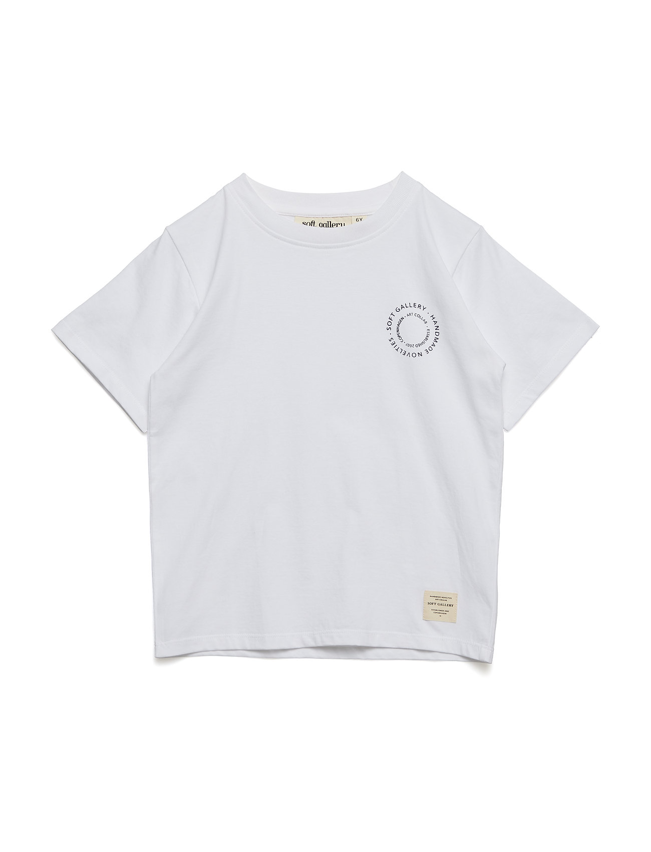 Soft Gallery Asger T-shirt - WHITE, LOGO STAMP