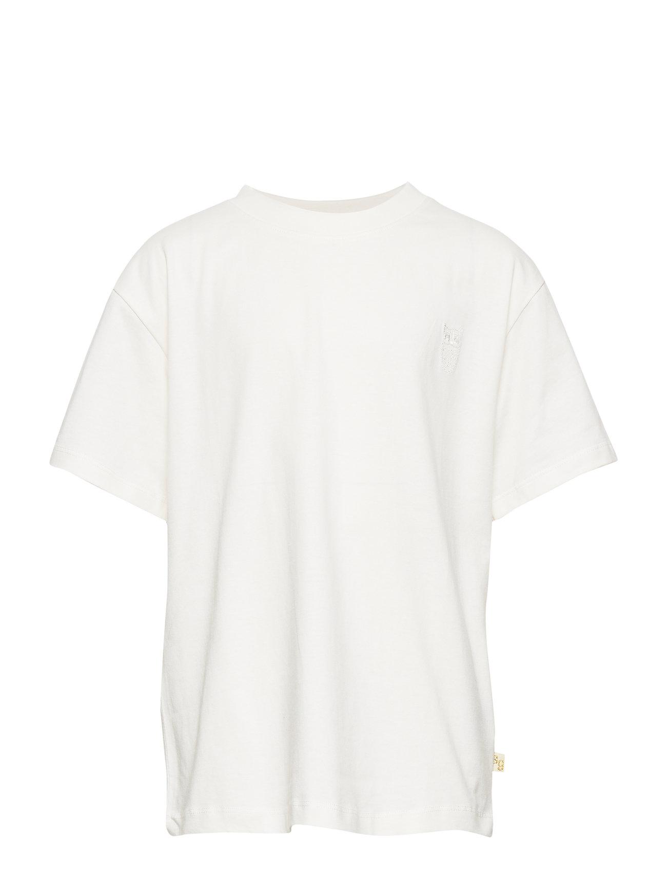 Soft Gallery Asger T-shirt - WHITE, MINI OWL EMB.