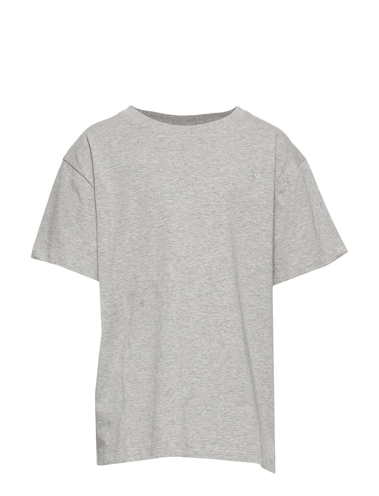 Soft Gallery Asger T-shirt - GREY MELANGE, MINI OWL EMB.