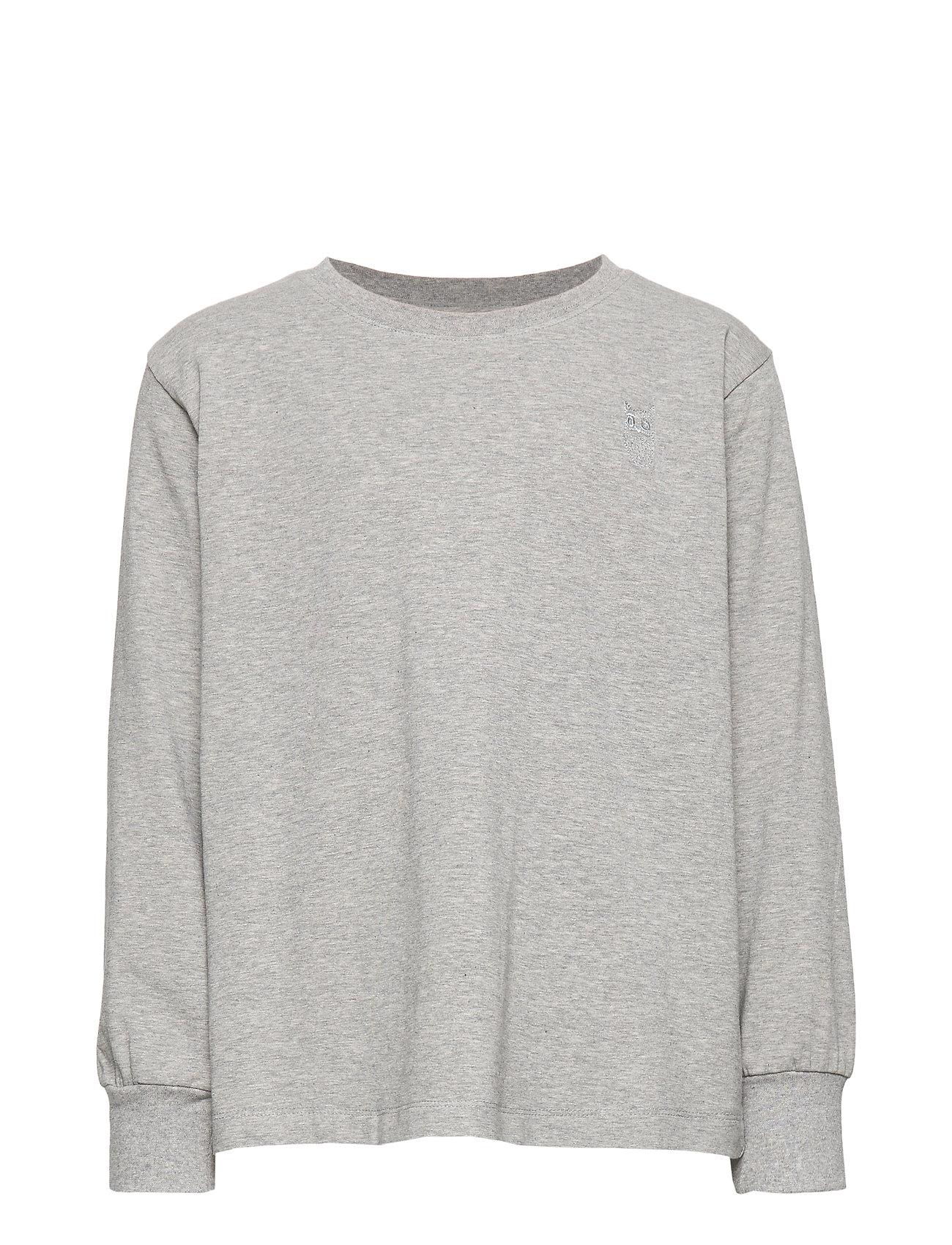Soft Gallery Benson T-shirt - GREY MELANGE, MINI OWL EMB.