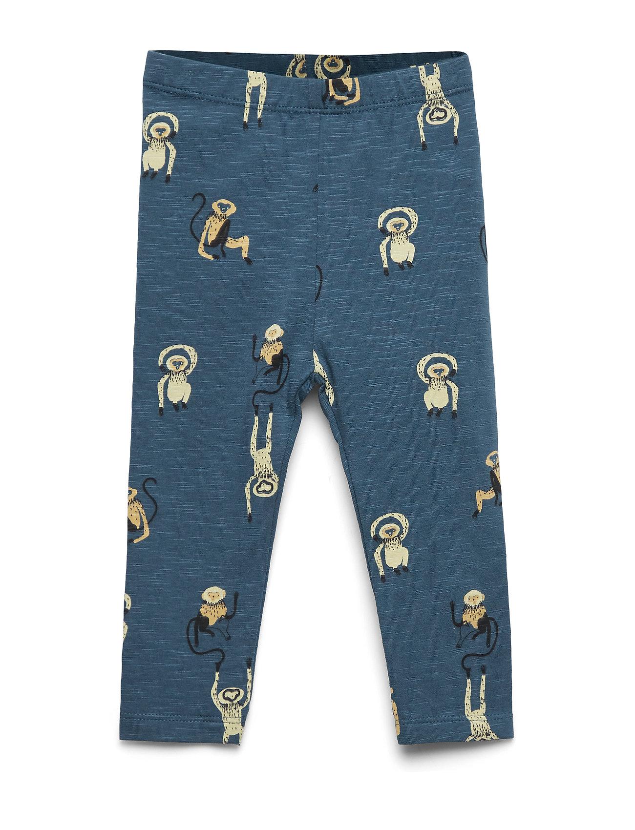 Soft Gallery Baby Paula Leggings - ORION BLUE, AOP MONKEY