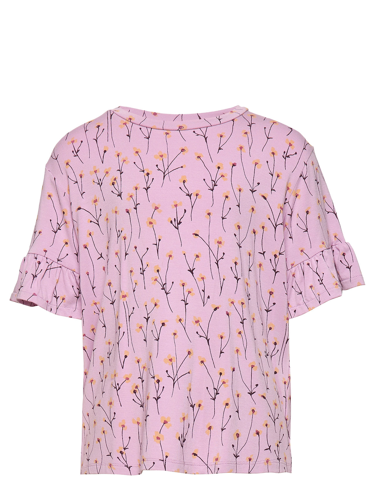 Soft Gallery Debbie T-shirt - DAWN PINK, AOP BUTTERCUP S