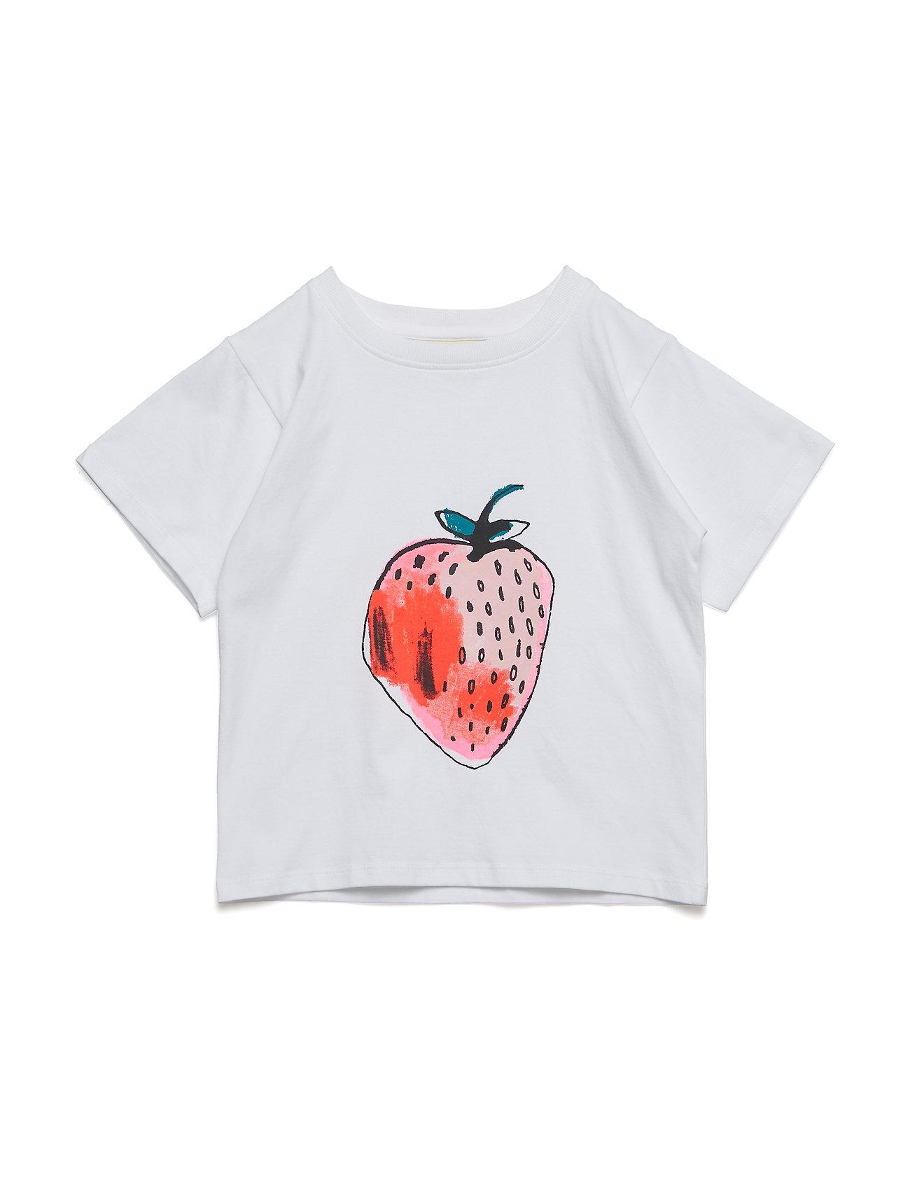 Soft Gallery Dominique T-shirt - WHITE, FRAISE