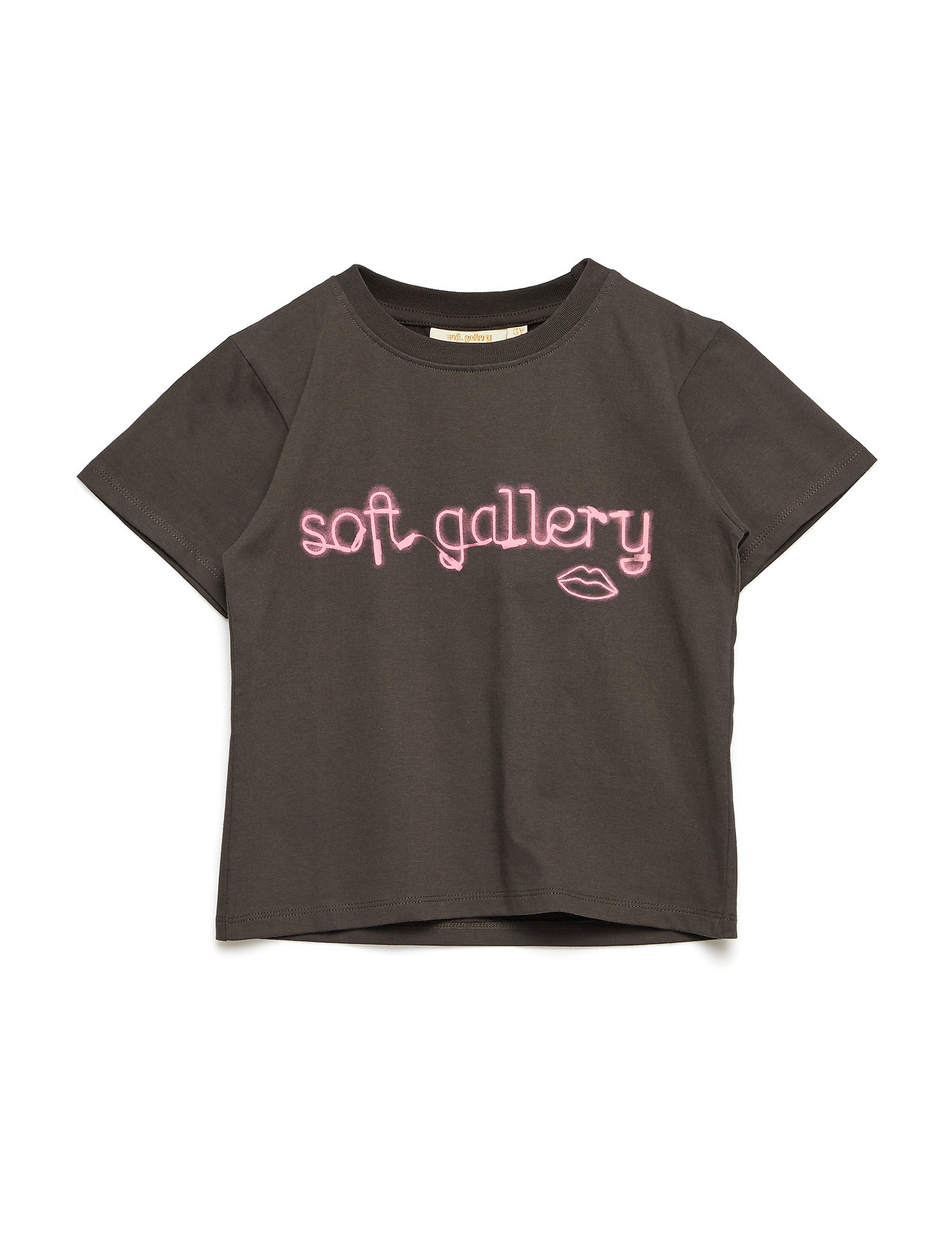 Soft Gallery Dominique T-shirt - PEAT, NEON LIPS