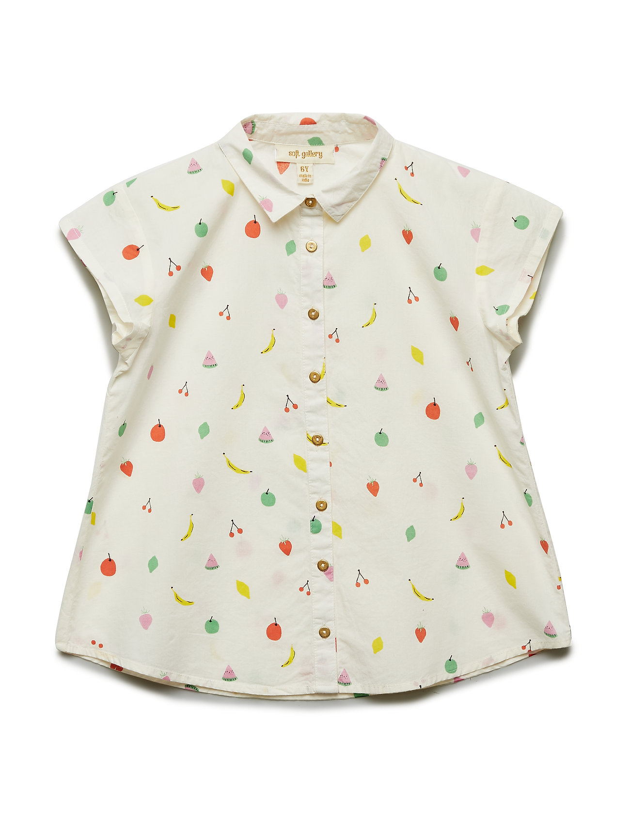 Soft Gallery Diza Shirt - PRISTINE, AOP FRUITY