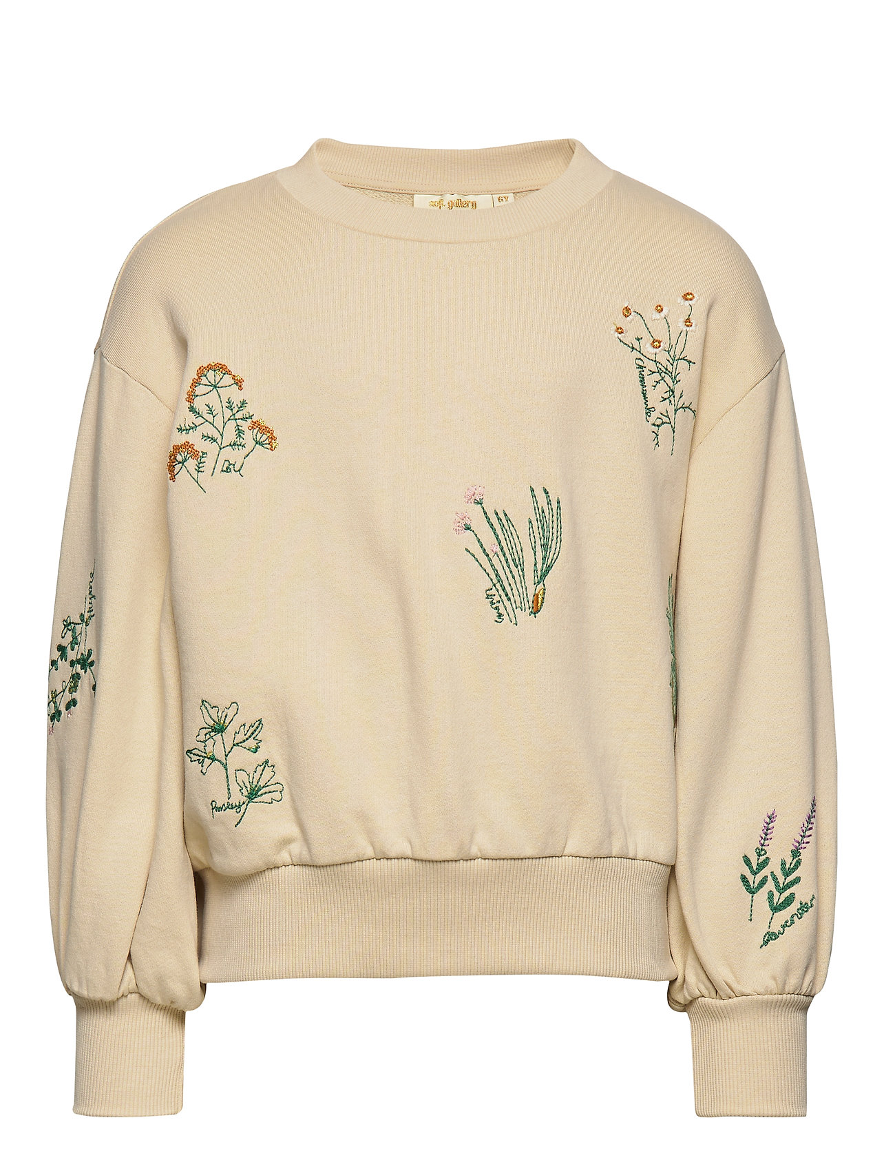 Soft Gallery Elvira Sweatshirt - SEEDPEARL, HERBS EMB