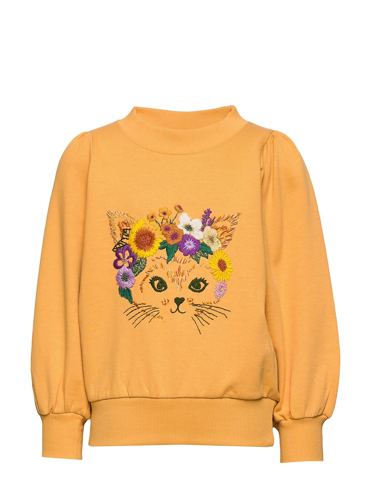 Soft Gallery Era Sweatshirt - GOLDEN APRICOT, FLOWERCAT EMB
