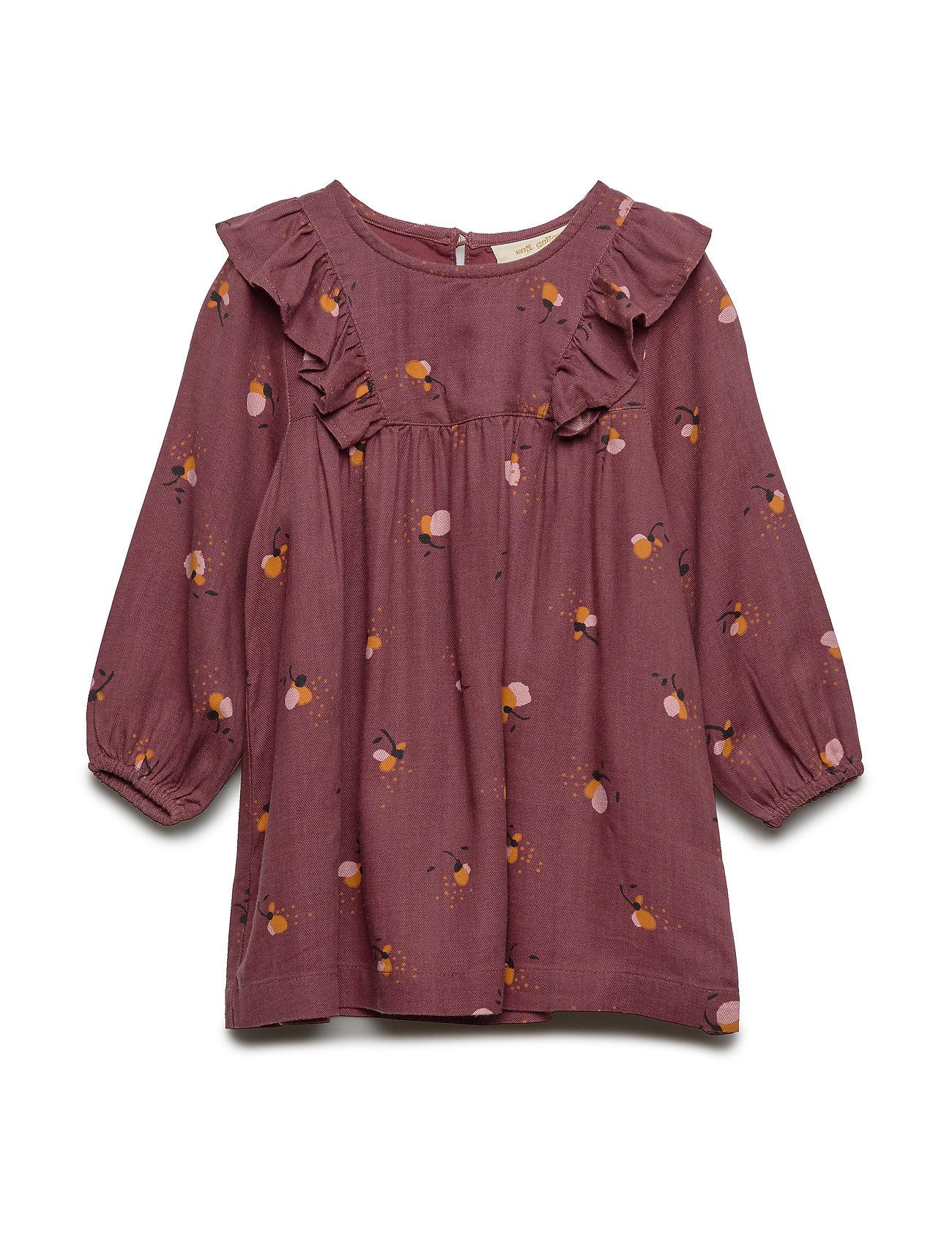 Soft Gallery Eleanor Dress - ROSE BROWN, AOP FLOWERBEE
