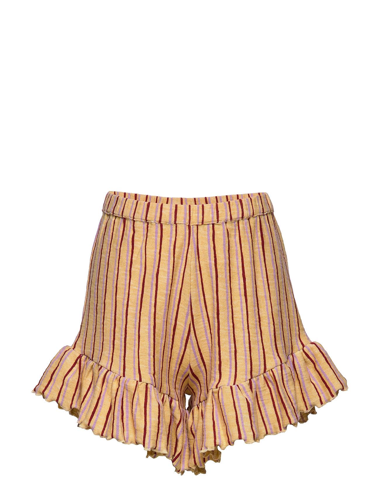 Soft Gallery Florie Shorts - JOJOBA, AOP FRINGE
