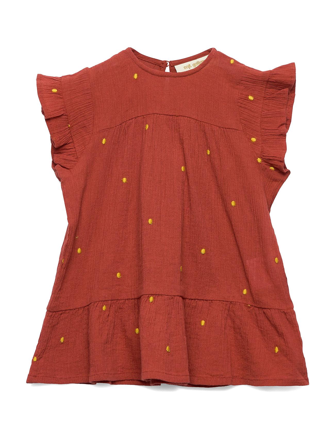 Soft Gallery Fianna Dress - CINNABAR, AOP DOTTY EMB
