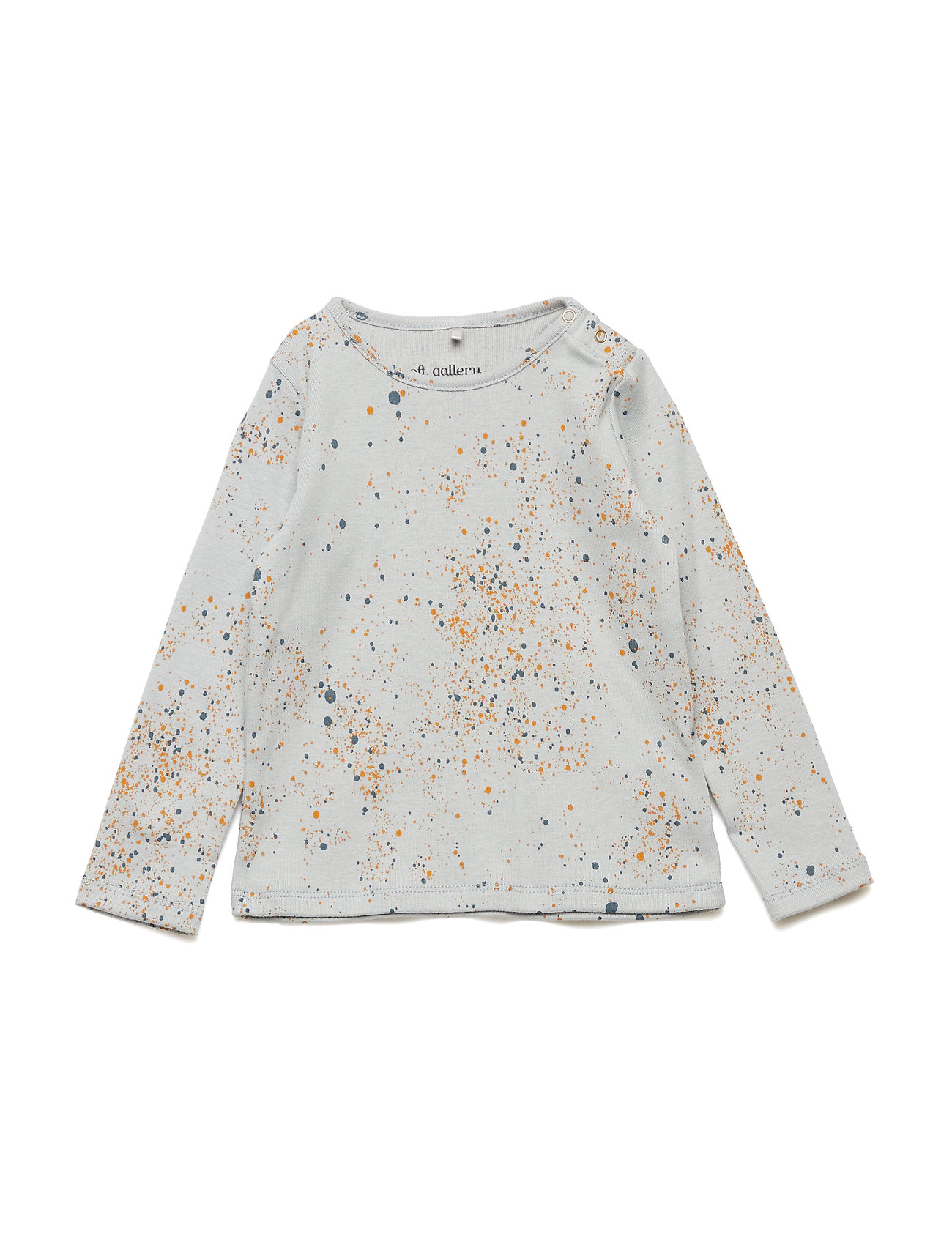 Soft Gallery Baby Bella T-shirt - OCEAN GREY, AOP MINI SPLASH BLUE