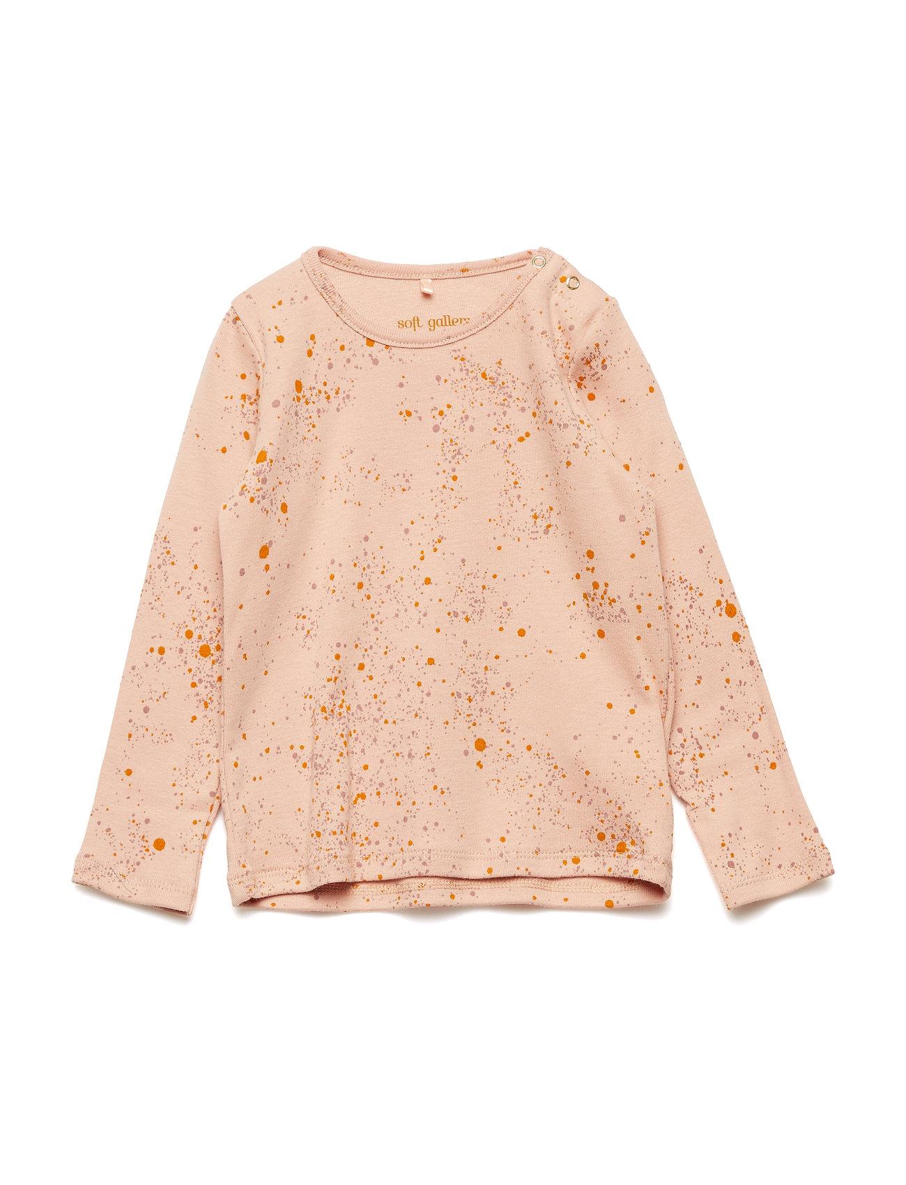 Soft Gallery Baby Bella T-shirt - PEACH PERFECT, AOP MINI SPLASH ROSE