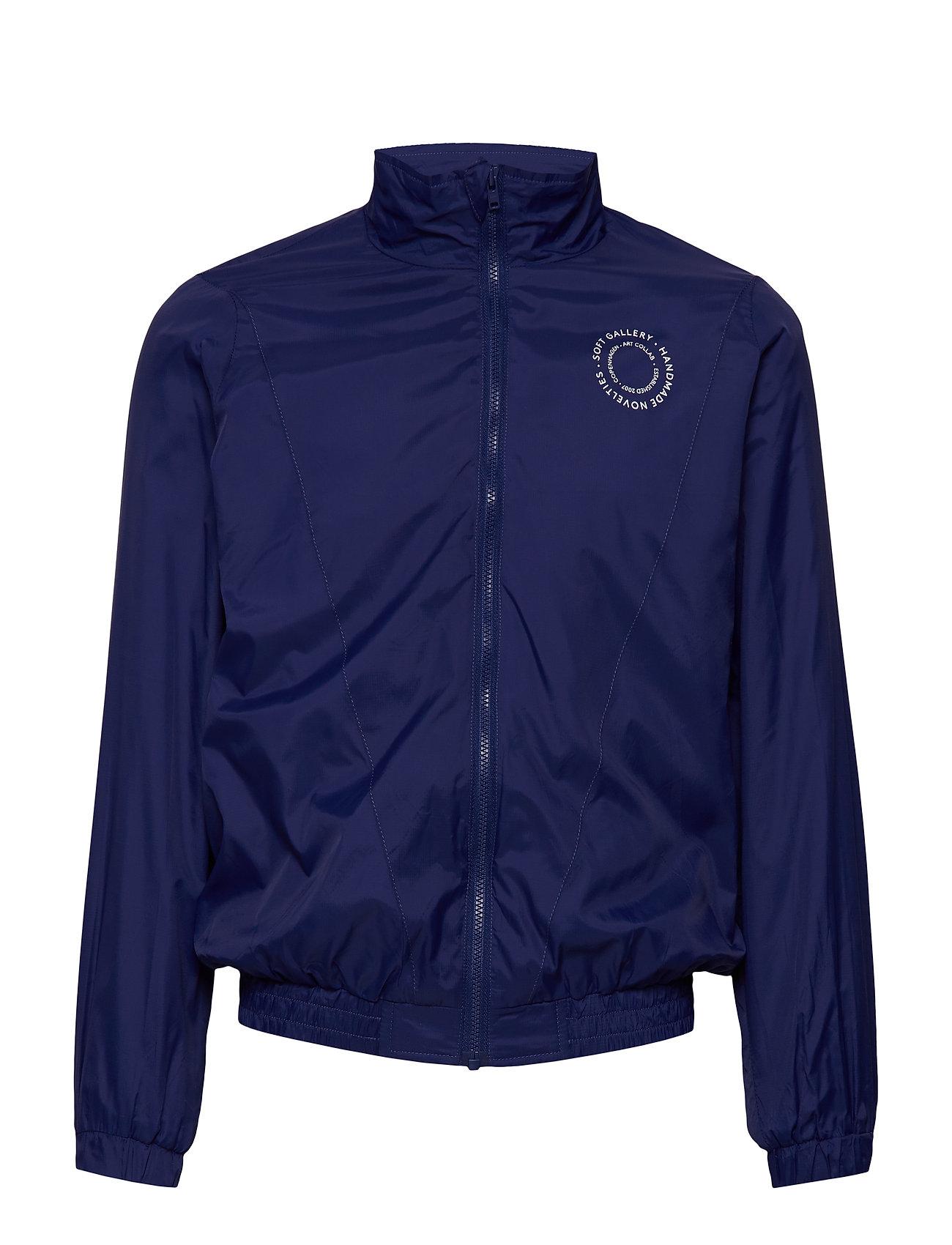 Soft Gallery Dixon Jacket - DRESS BLUE, CREAM LOGO