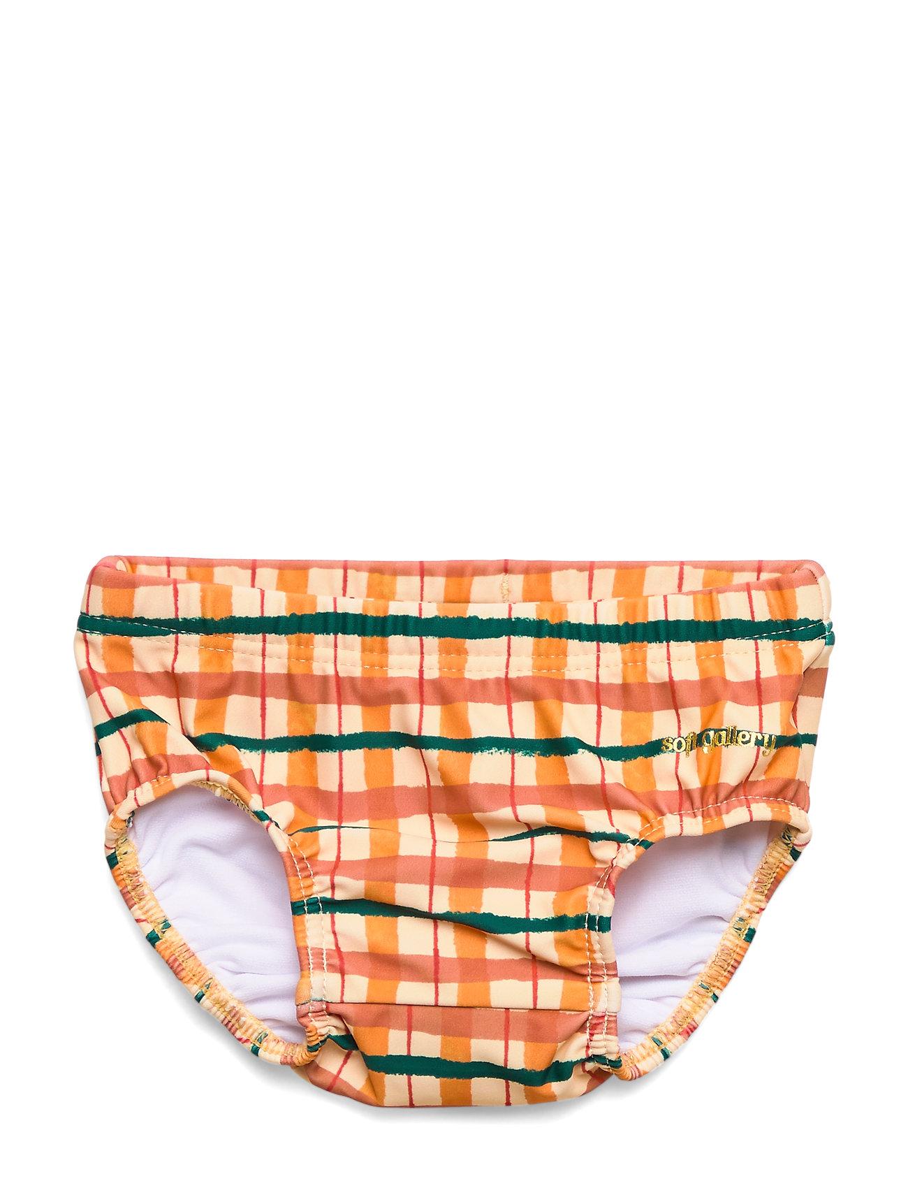 Soft Gallery Miki Swim Pants - WINTER WHEAT, AOP CHECK